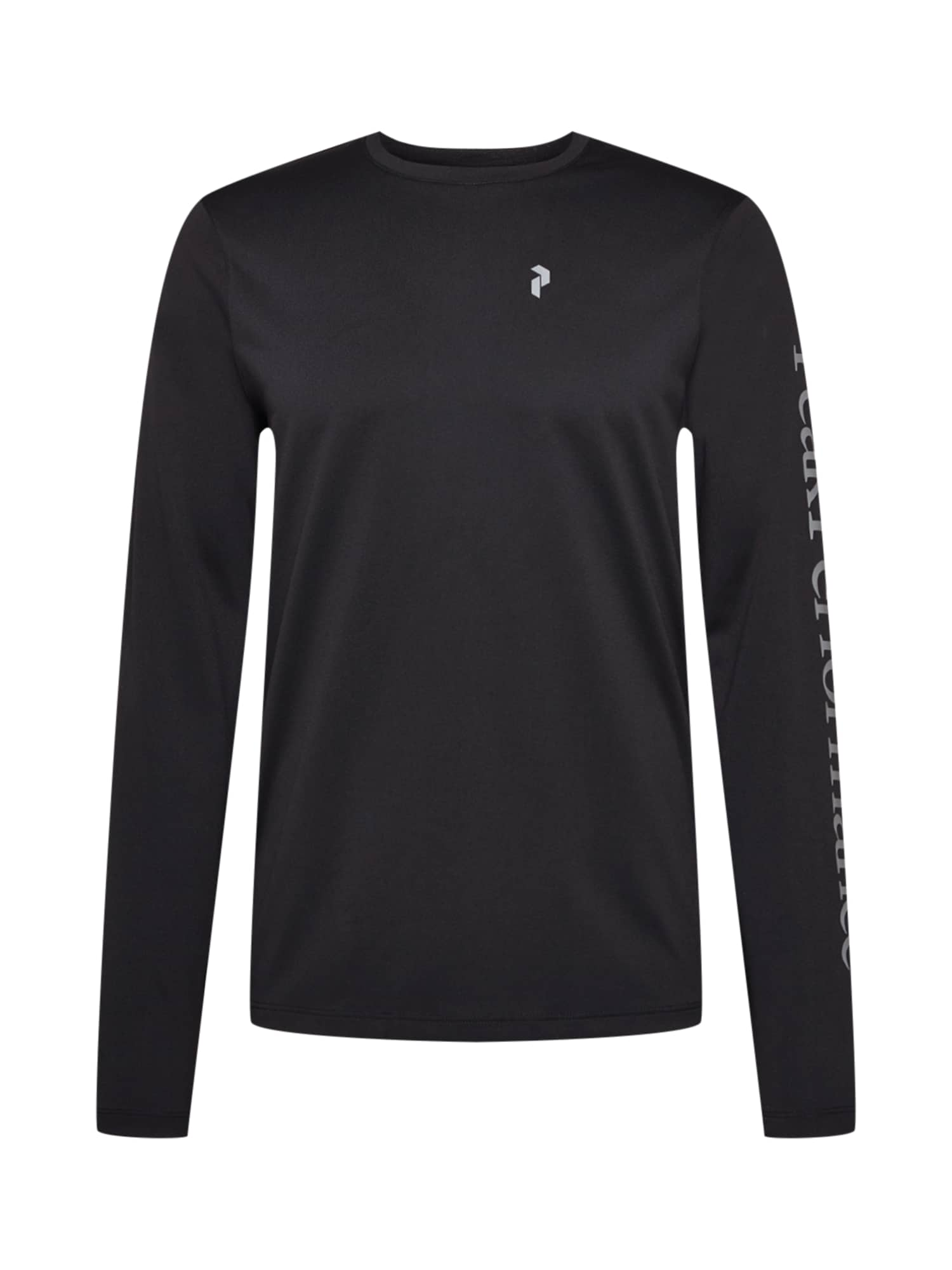 PEAK PERFORMANCE Funkční tričko  černá / stříbrně šedá