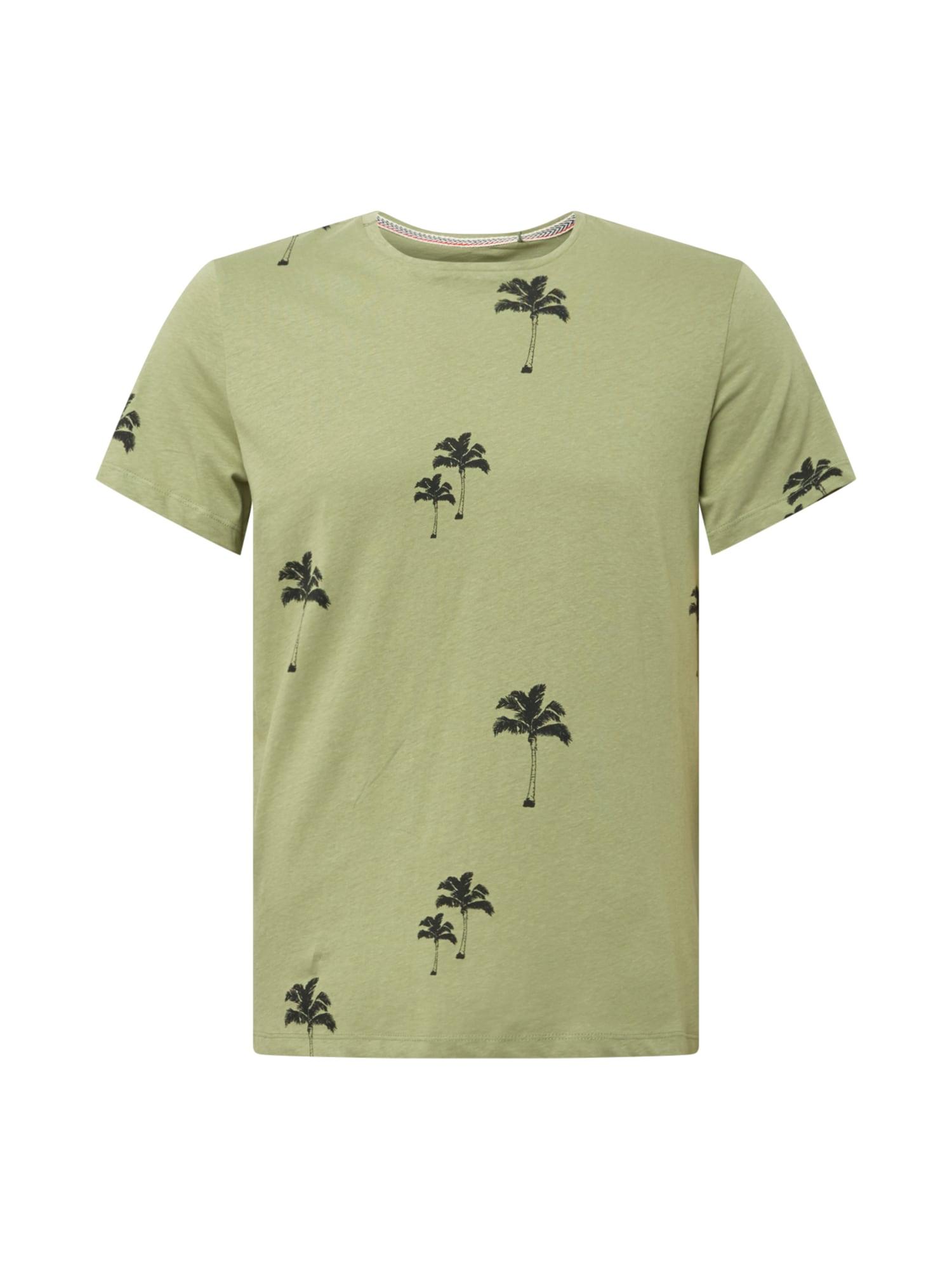 Fransa Marškinėliai žalia / rusvai žalia