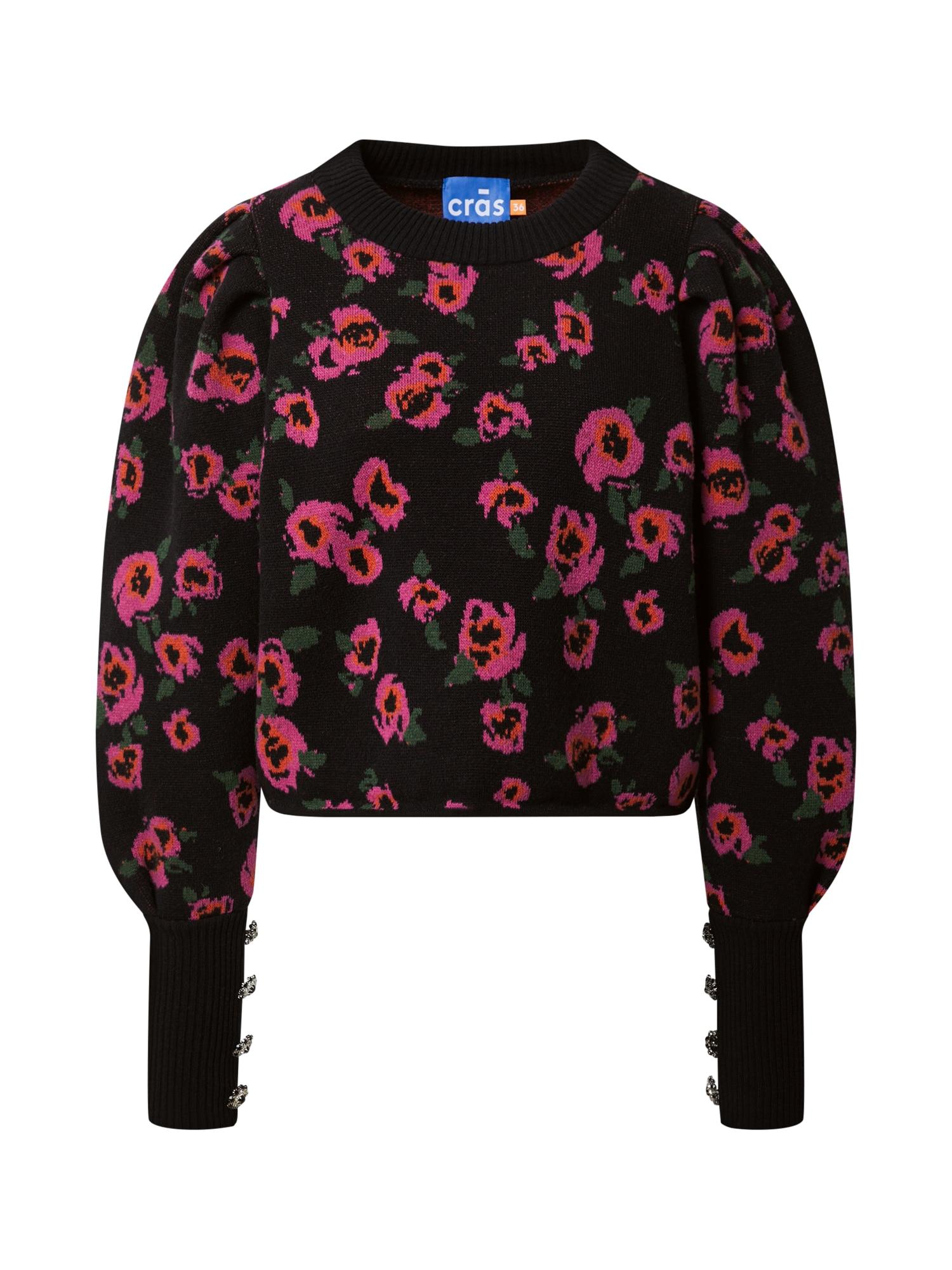 Crās Megztinis rožinė / juoda
