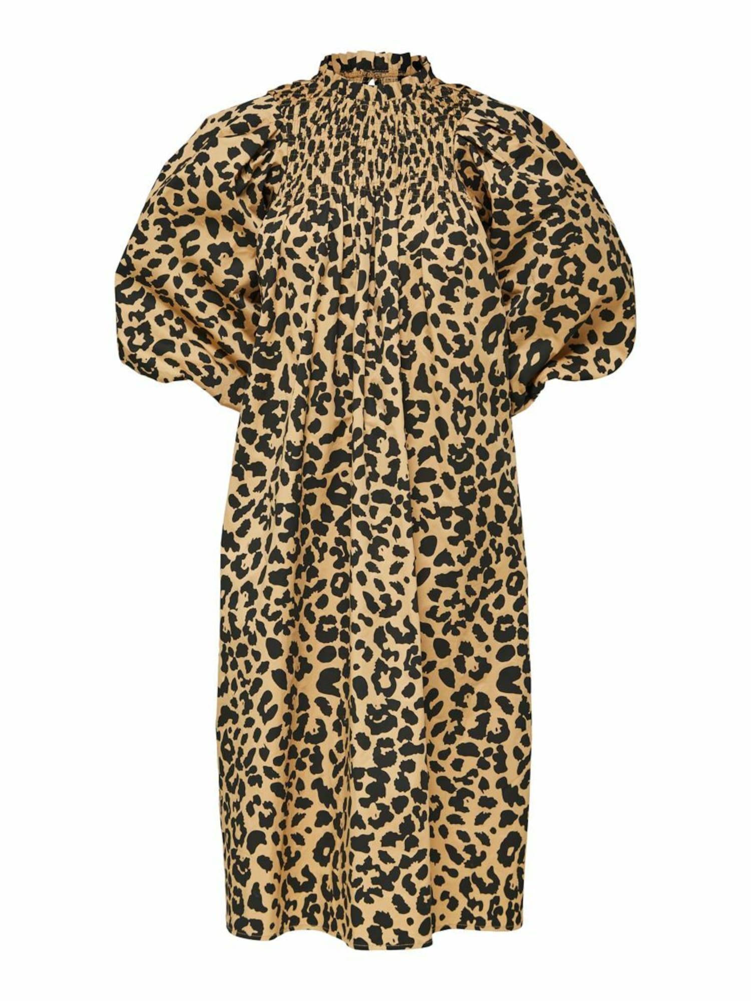 SELECTED FEMME Šaty  hnědá / černá