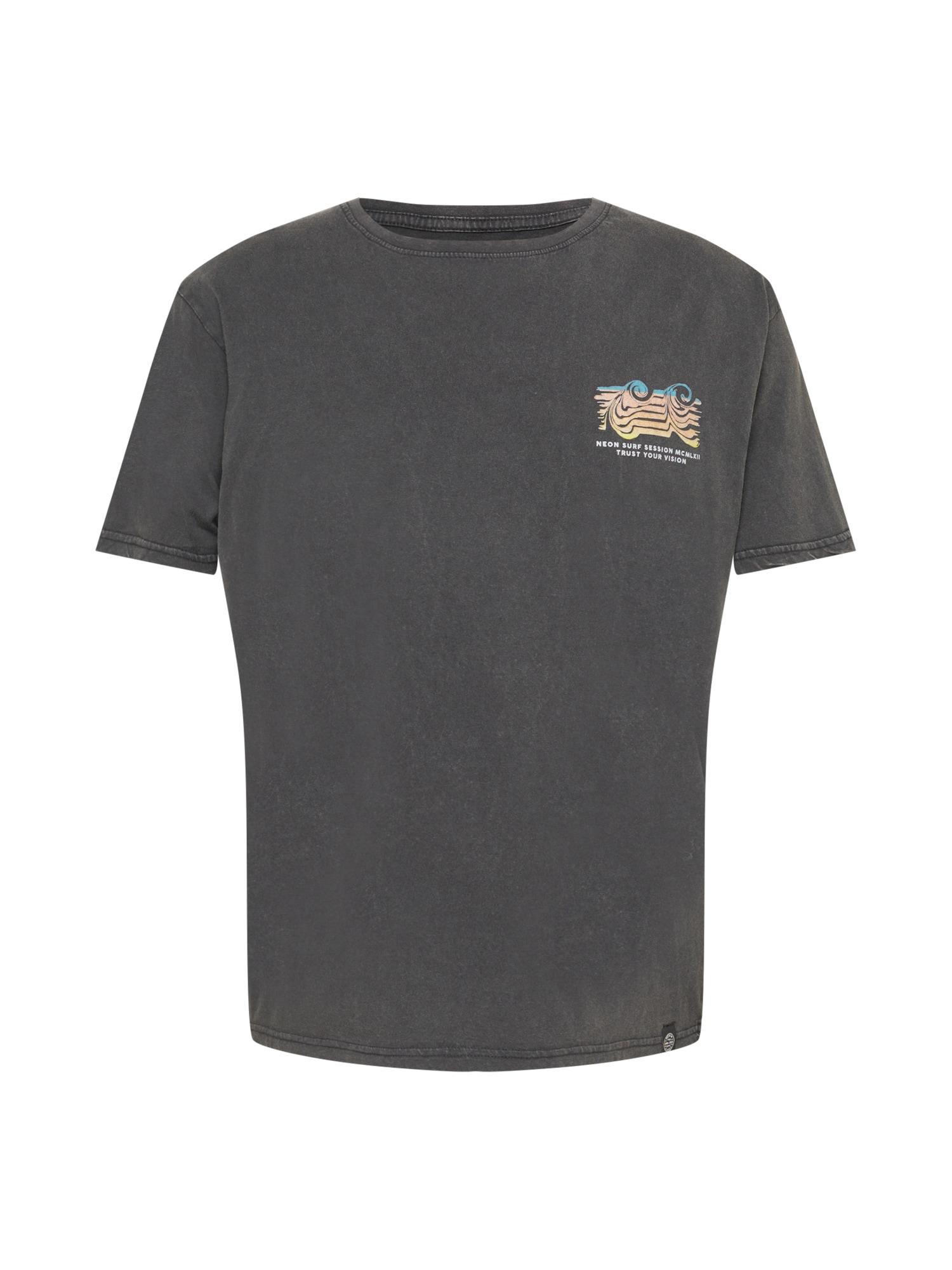 SHINE ORIGINAL Marškinėliai mėlyna / persikų spalva / geltona / tamsiai pilka