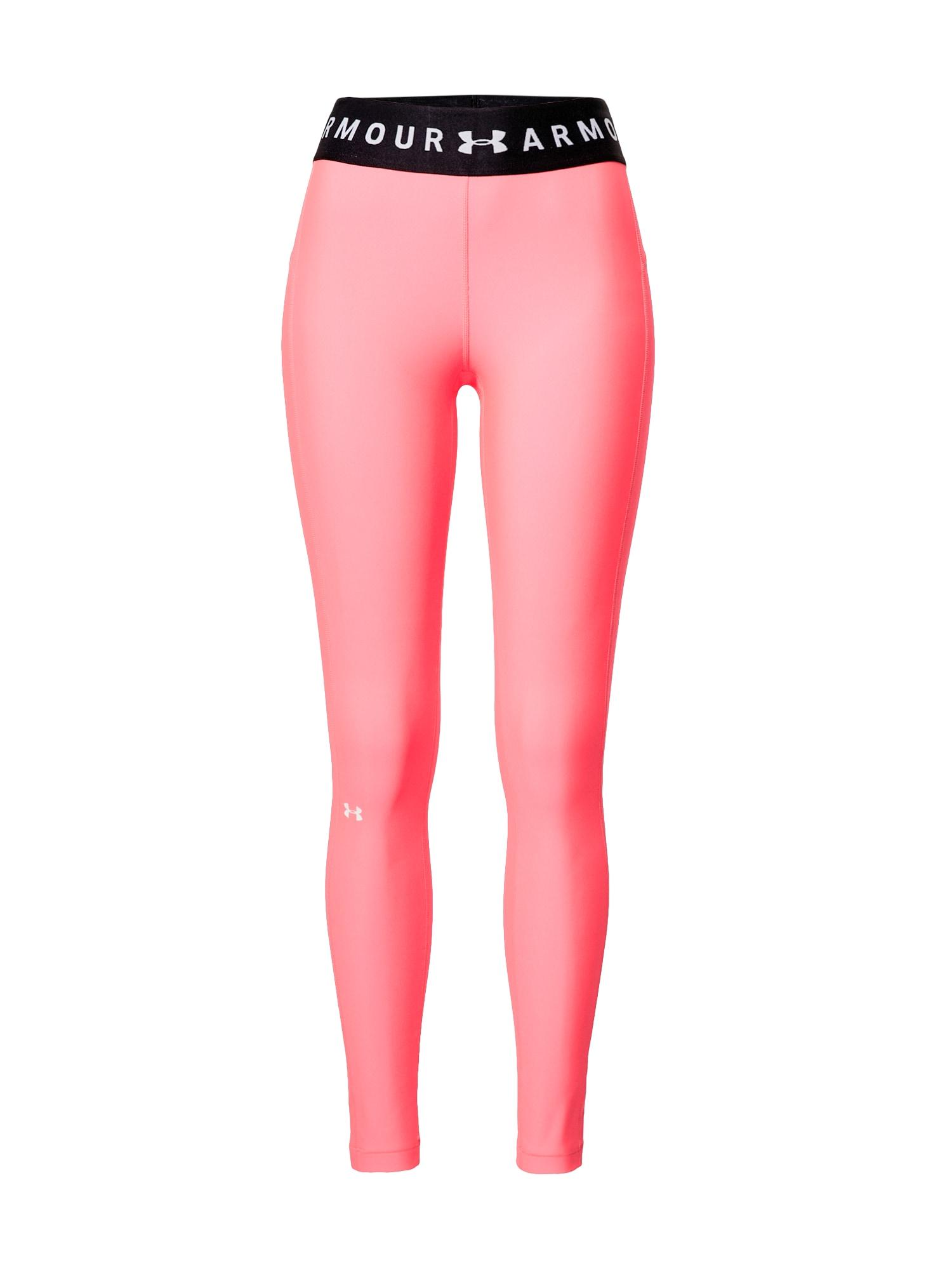 UNDER ARMOUR Sportovní kalhoty  pink / černá