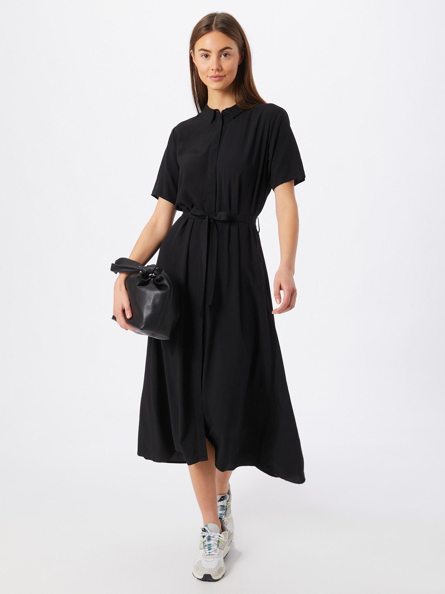 Envii Košeľové šaty  čierna.