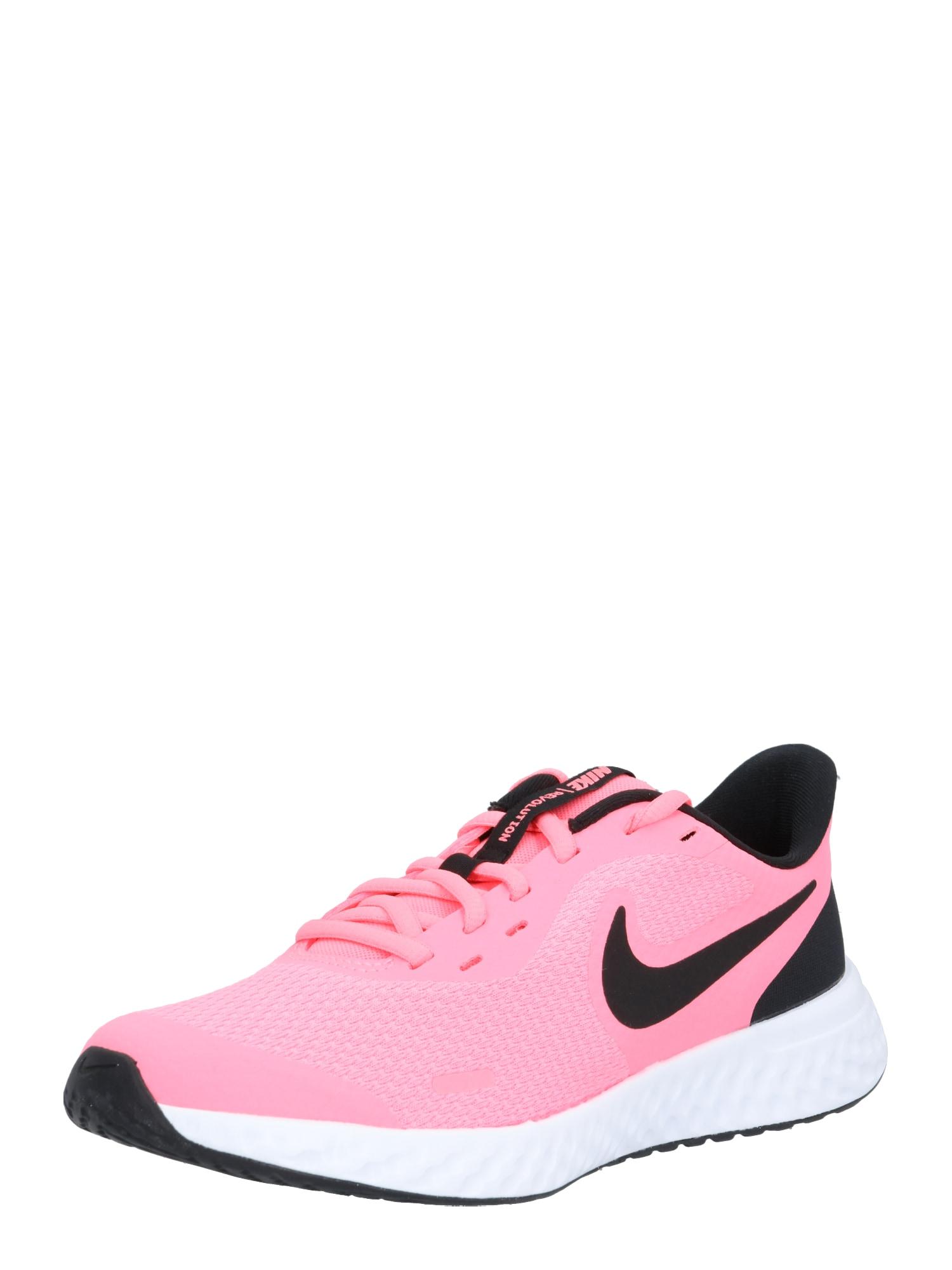NIKE Sportiniai batai 'Revolution 5' juoda / rožinė