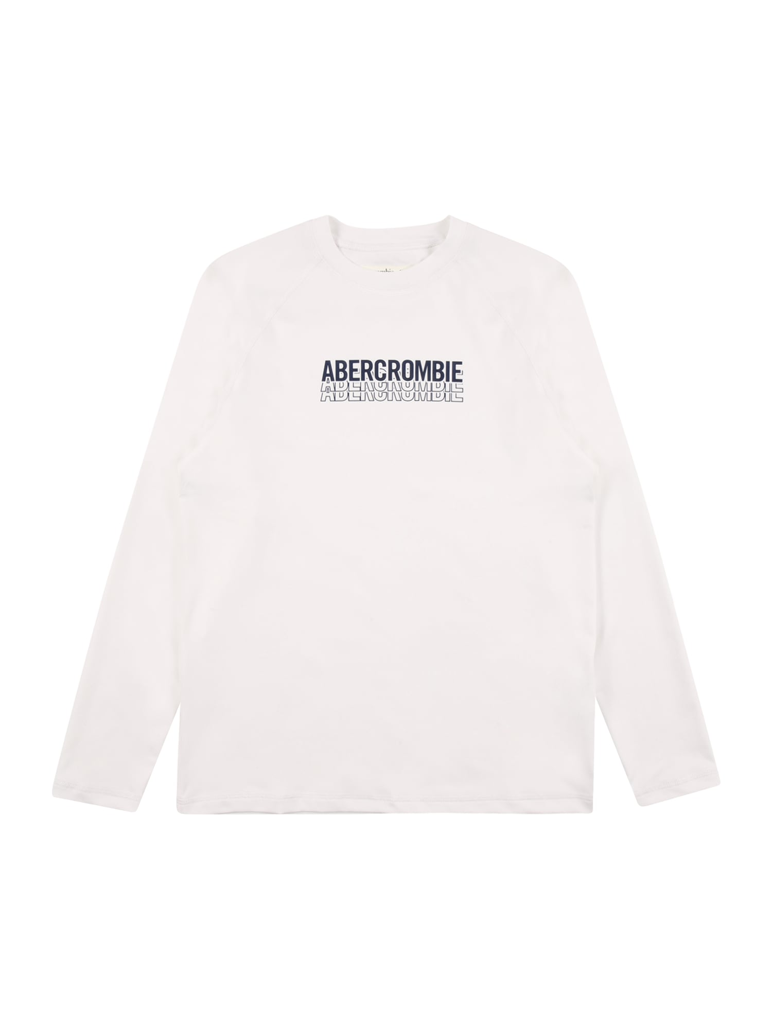Abercrombie & Fitch Marškinėliai balta / juoda