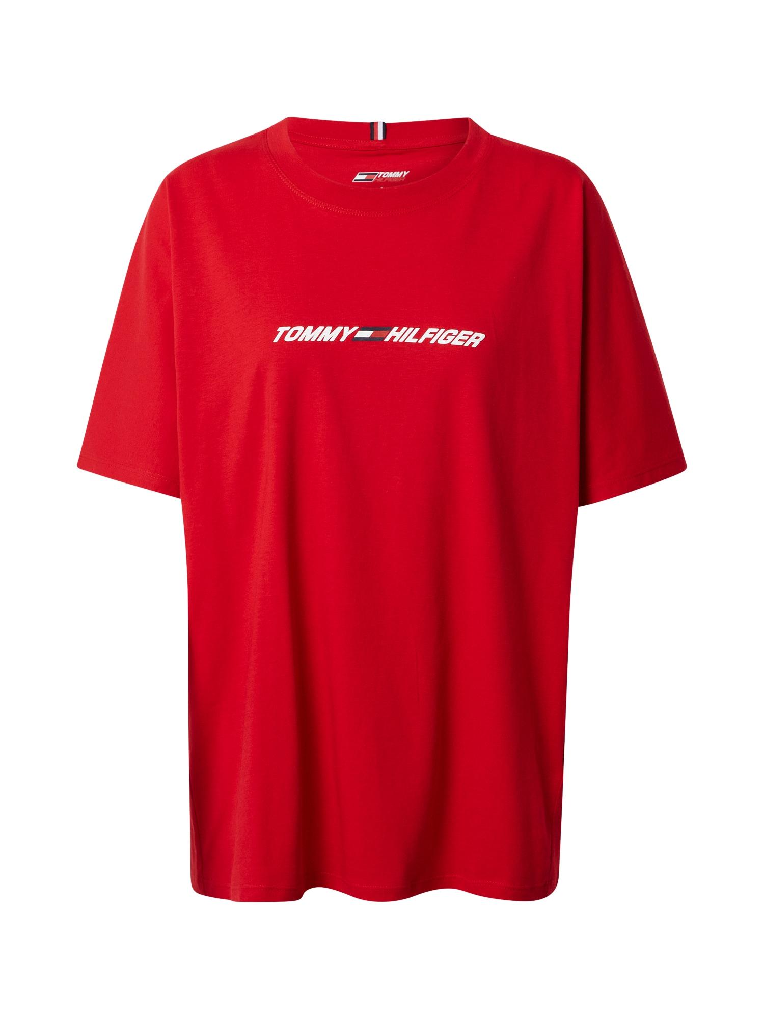 Tommy Sport Funkční tričko  červená