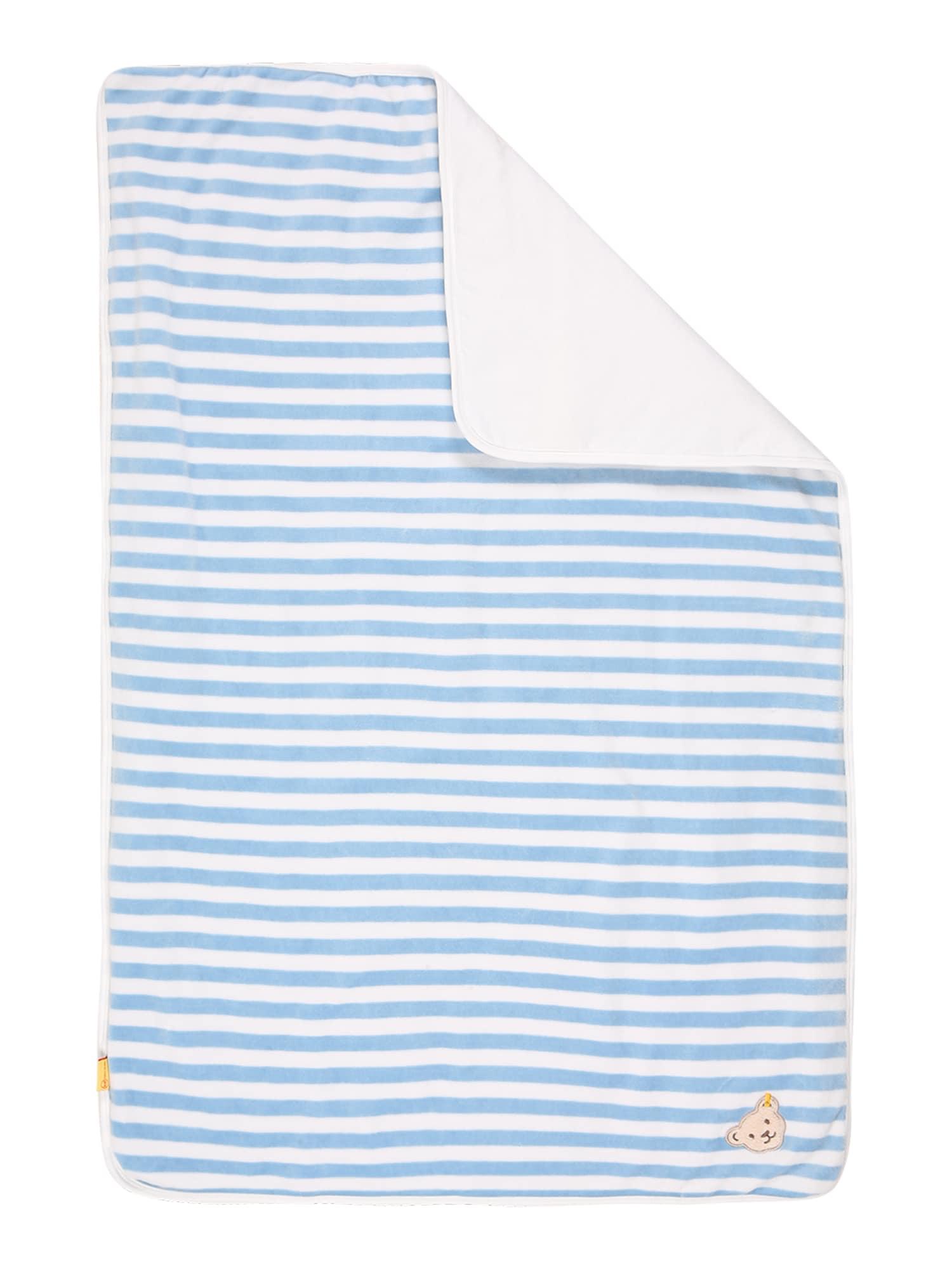 Steiff Collection Kūdikio antklodė šviesiai mėlyna / balta