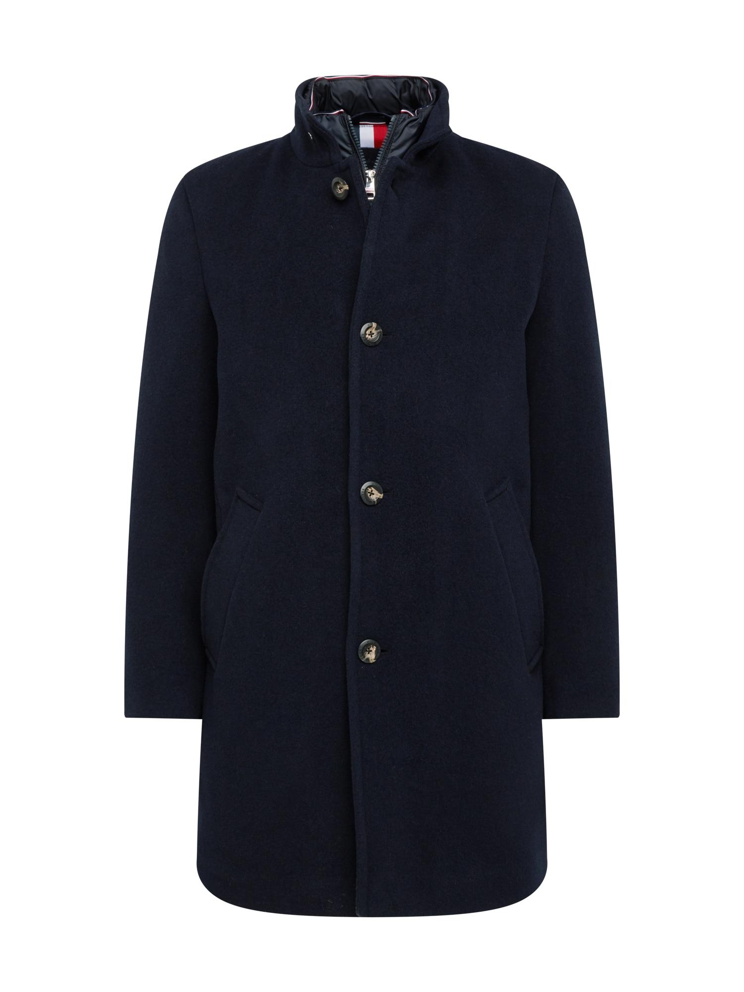 TOMMY HILFIGER Demisezoninis paltas nakties mėlyna