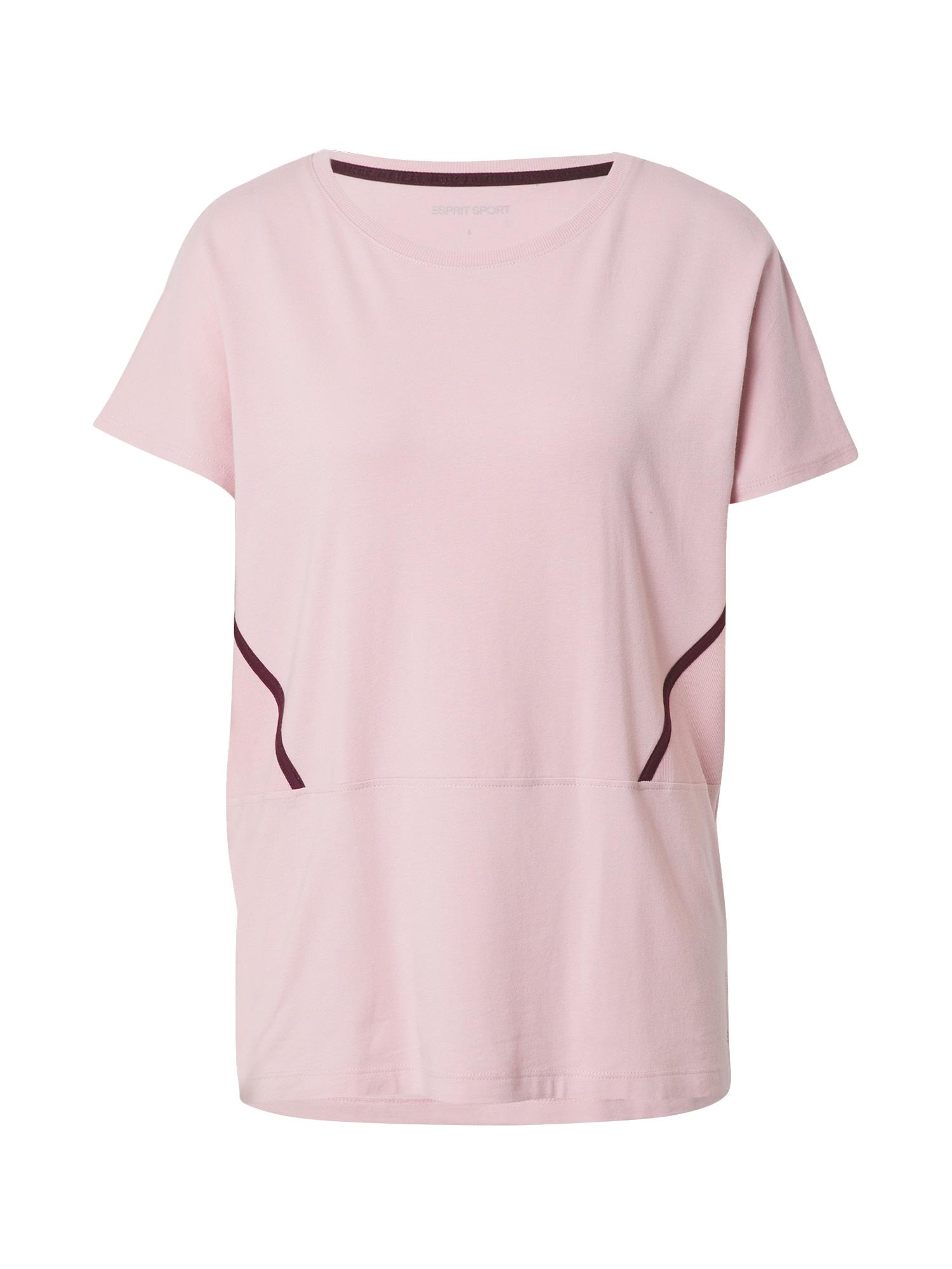ESPRIT SPORT Sportiniai marškinėliai šviesiai rožinė / tamsiai violetinė