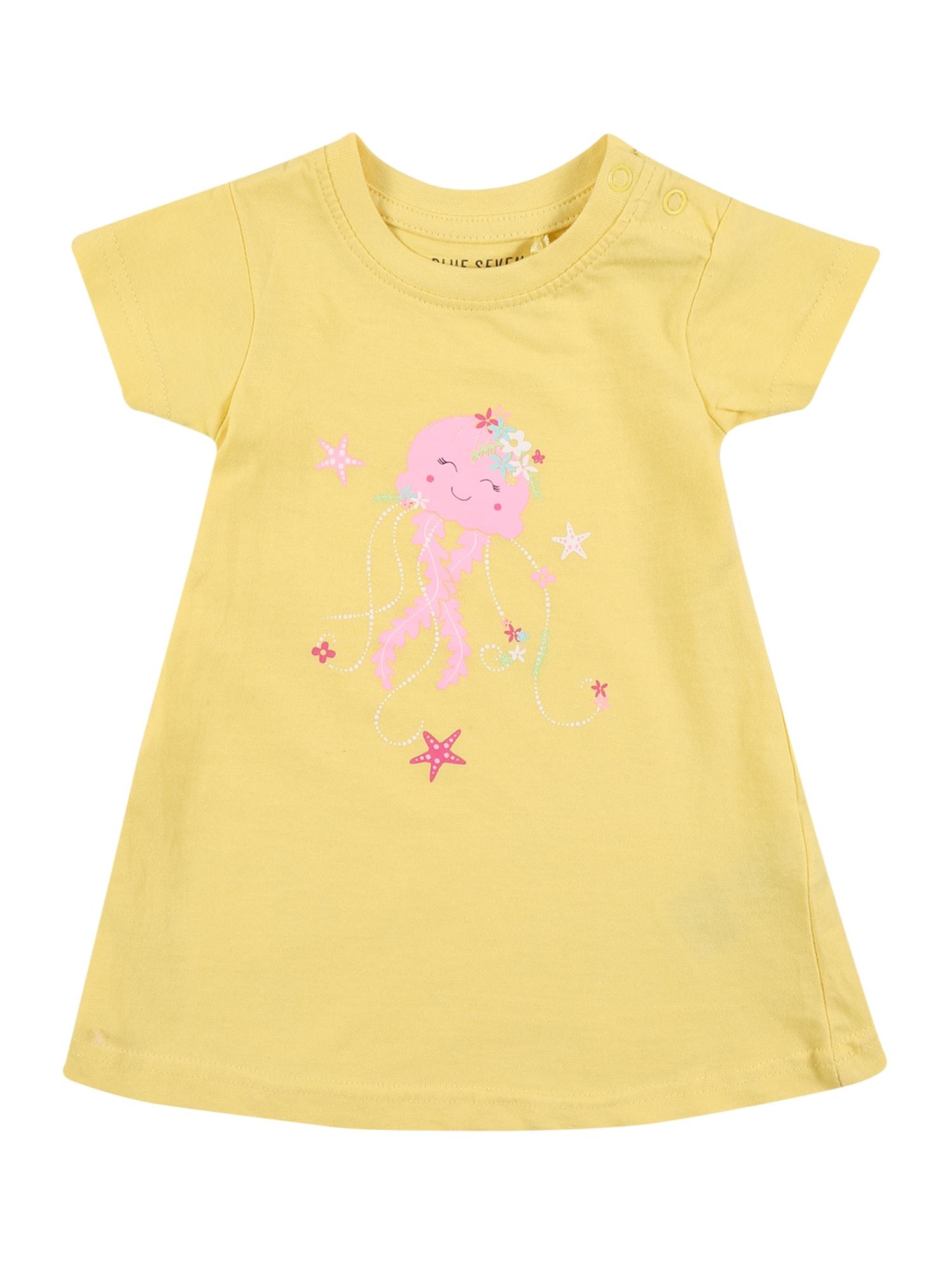 BLUE SEVEN Suknelė šviesiai rožinė / balta / turkio spalva / žaliosios citrinos spalva / pitajų spalva