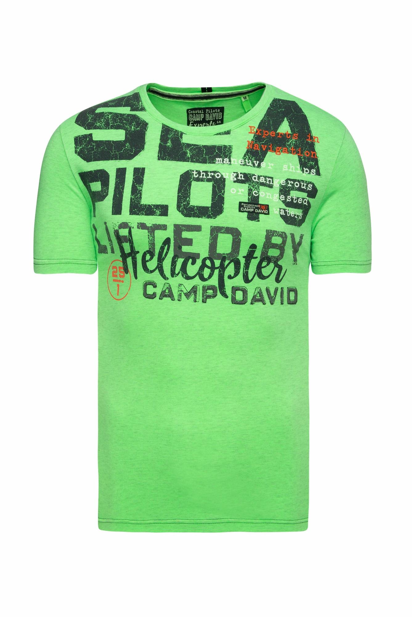 CAMP DAVID Marškinėliai neoninė žalia
