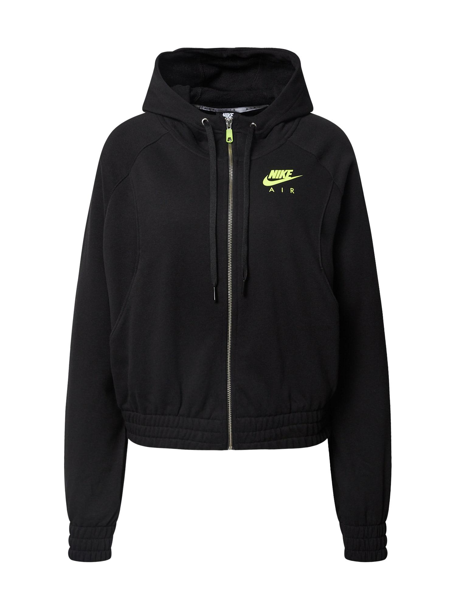 Nike Sportswear Džemperis juoda / neoninė žalia