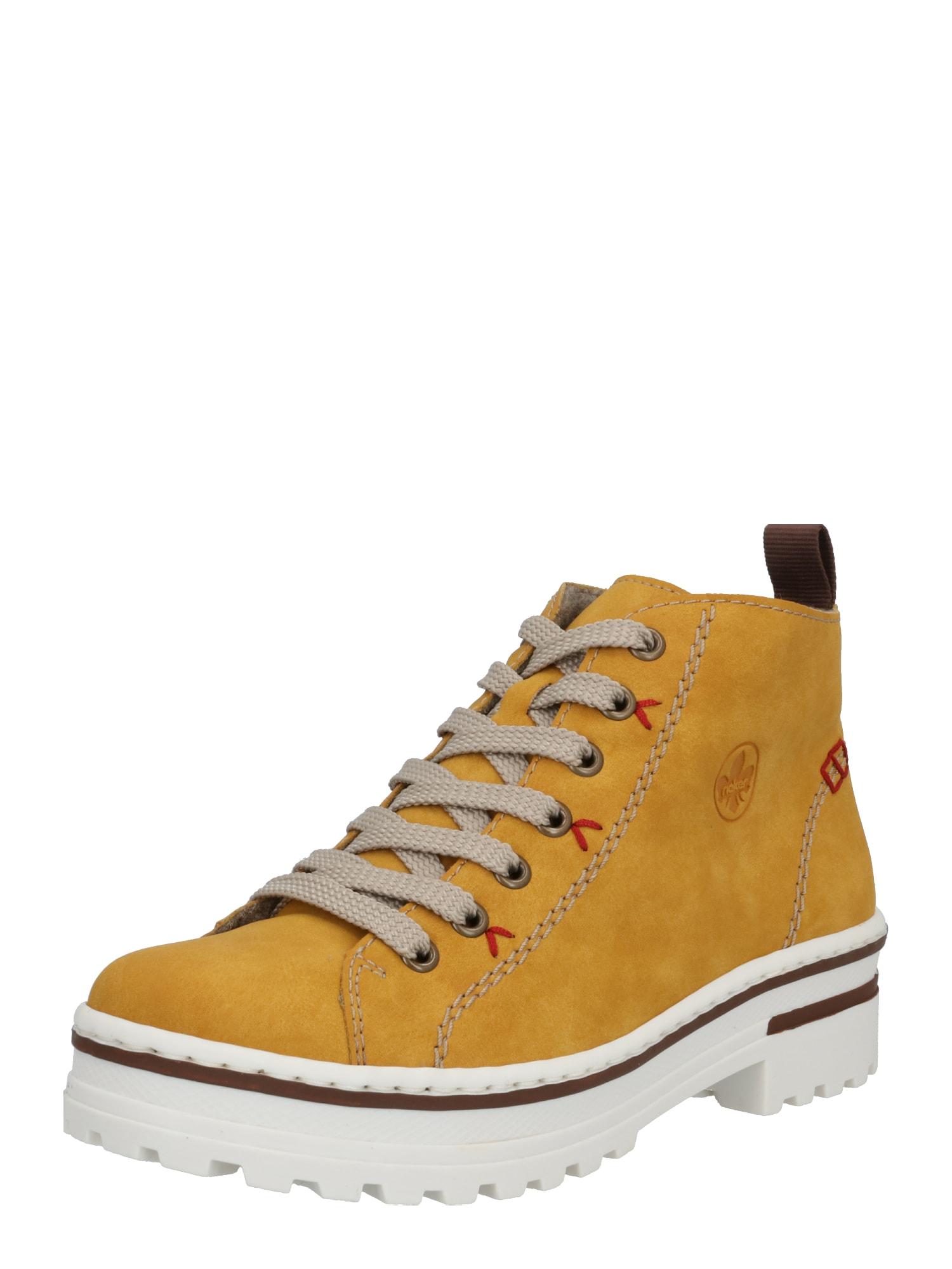 RIEKER Auliniai batai rusvai oranžinė