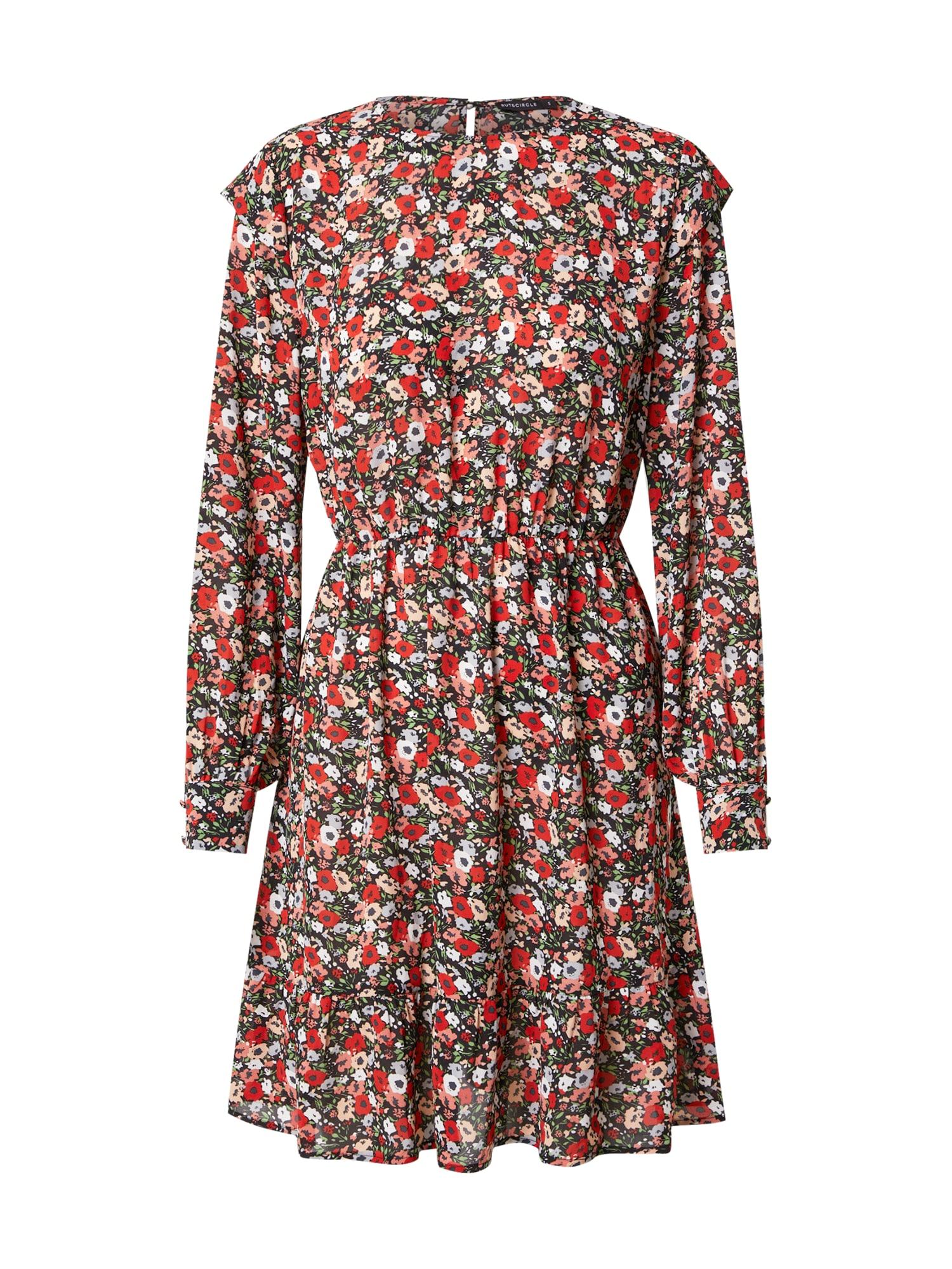 Rut & Circle Šaty 'SAVANNAH'  červená / bílá / zelená / černá