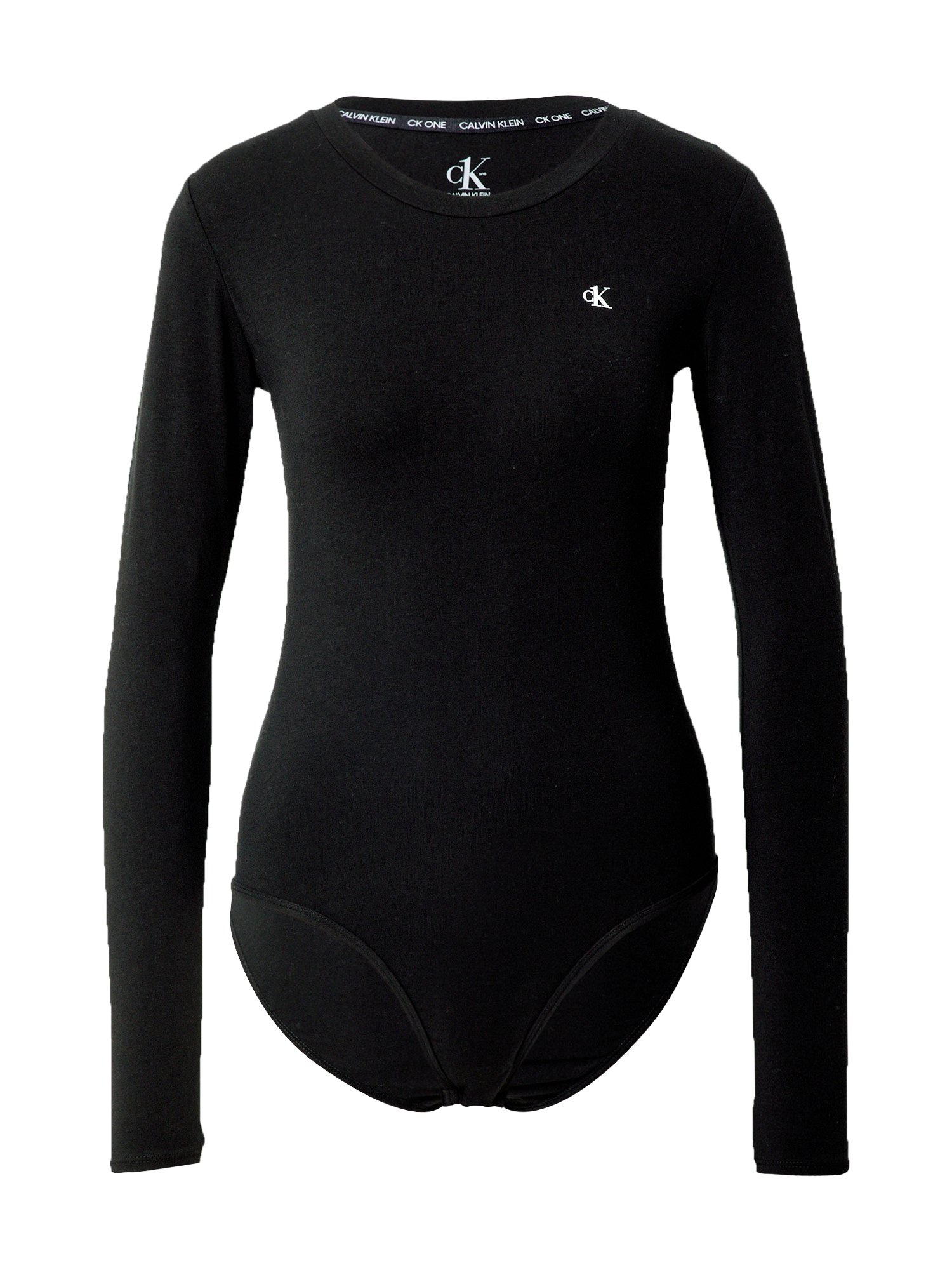Calvin Klein Underwear Marškinėliai-glaustinukė juoda