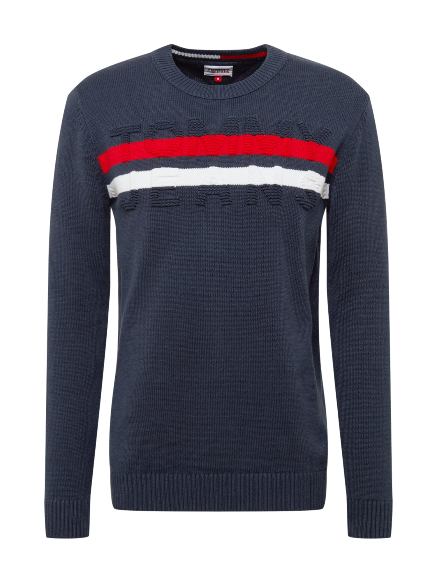 Tommy Jeans Svetr  modrá / bílá / červená