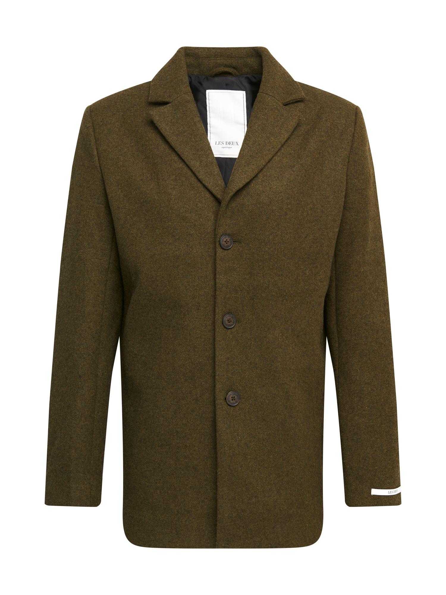 Les Deux Demisezoninis paltas rusvai žalia
