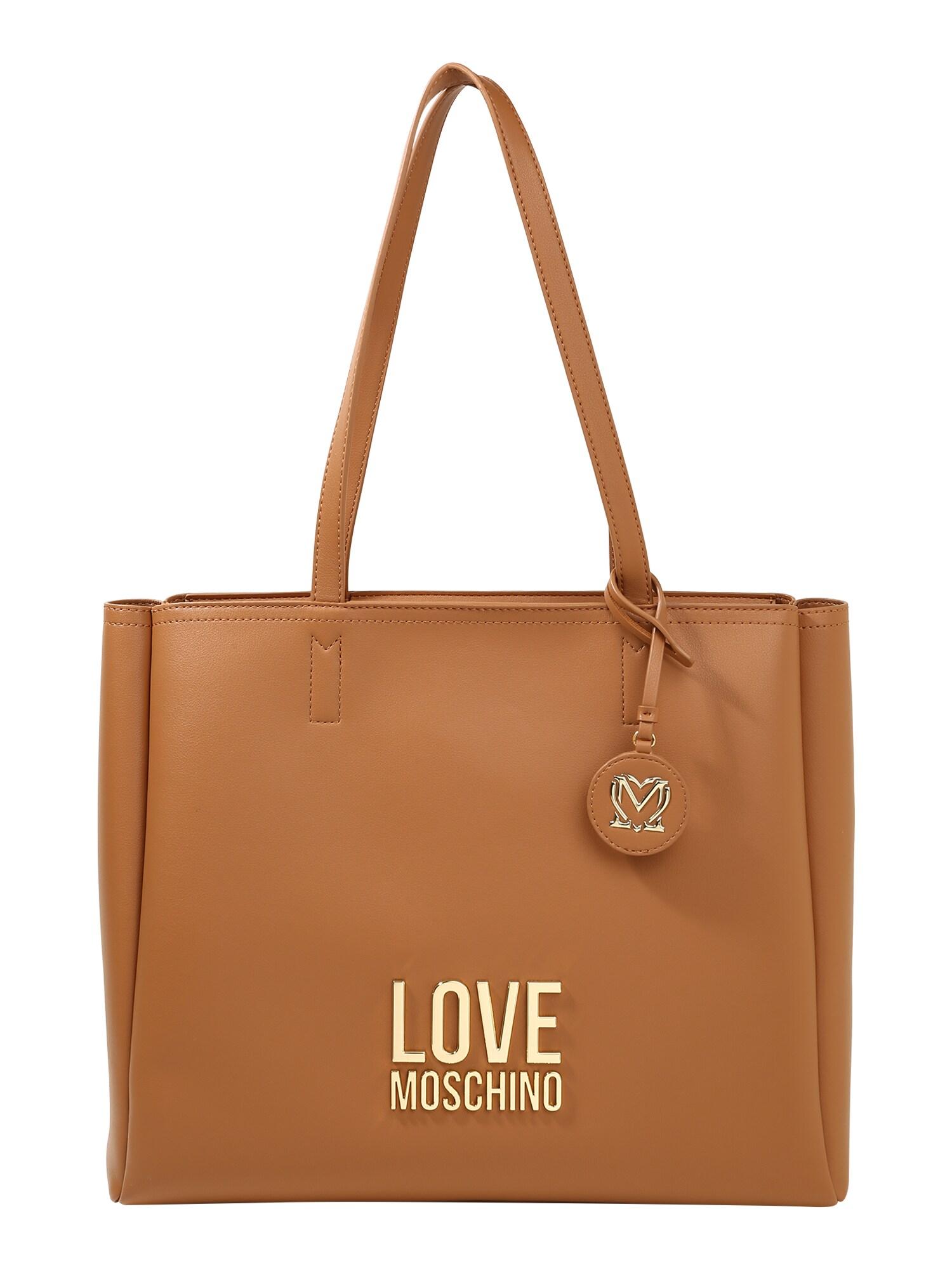 Love Moschino Pirkinių krepšys ruda (konjako)