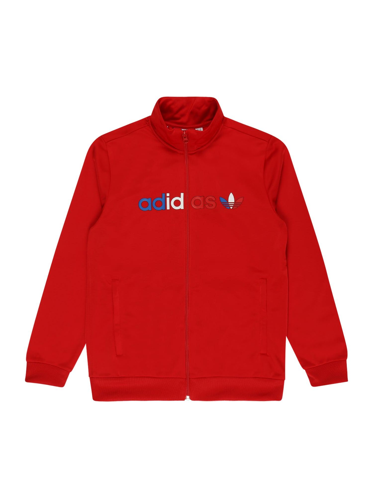 ADIDAS ORIGINALS Demisezoninė striukė raudona / mėlyna