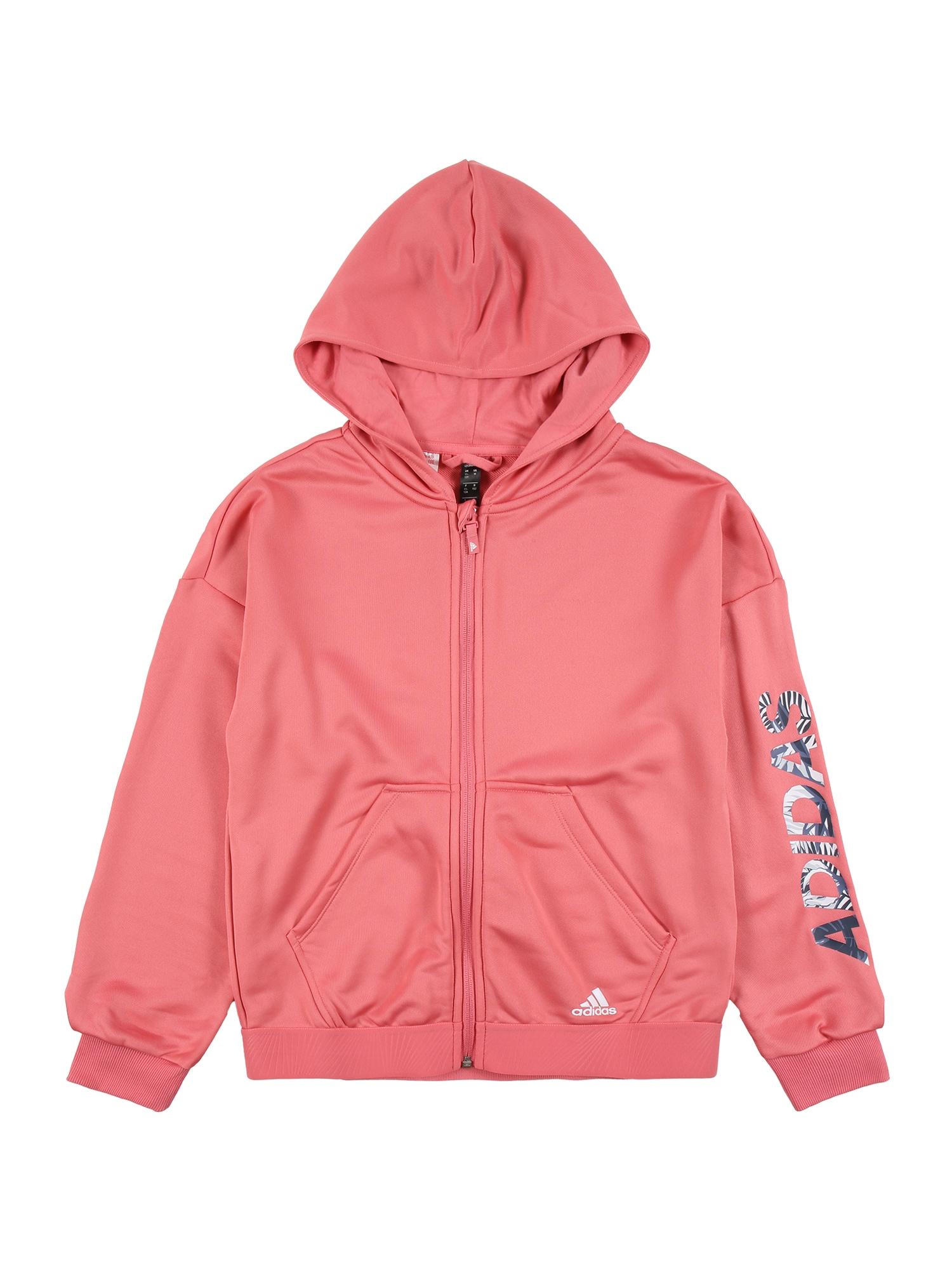 ADIDAS PERFORMANCE Sportinis džemperis ryškiai rožinė spalva / melsvai pilka / nakties mėlyna / balta