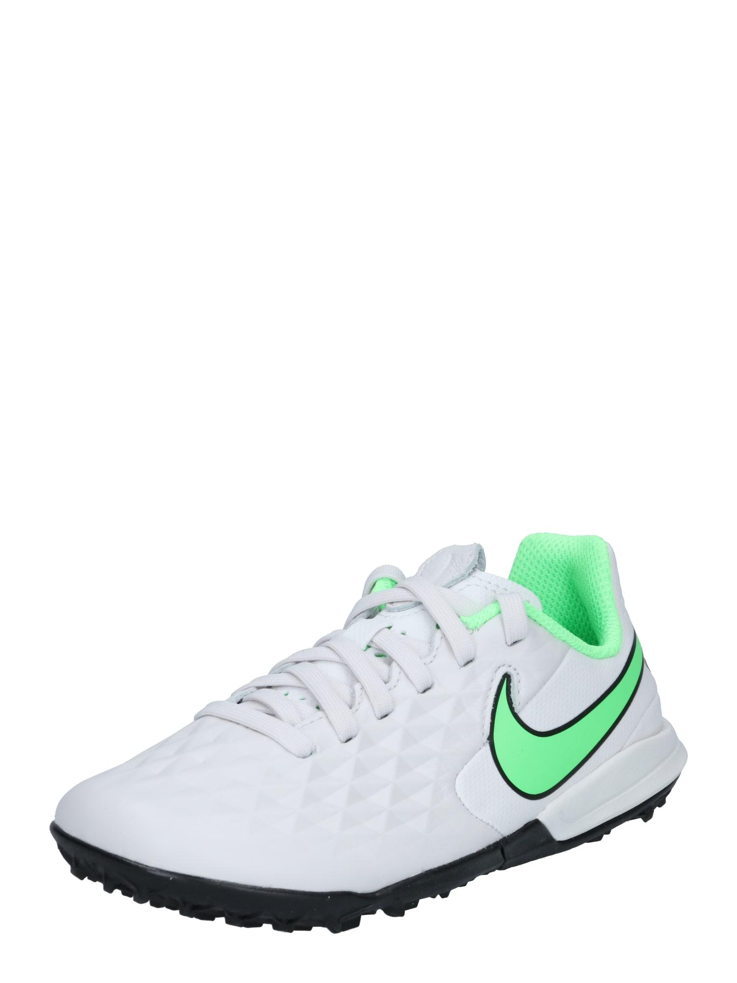 NIKE Sportiniai batai balta / žalia
