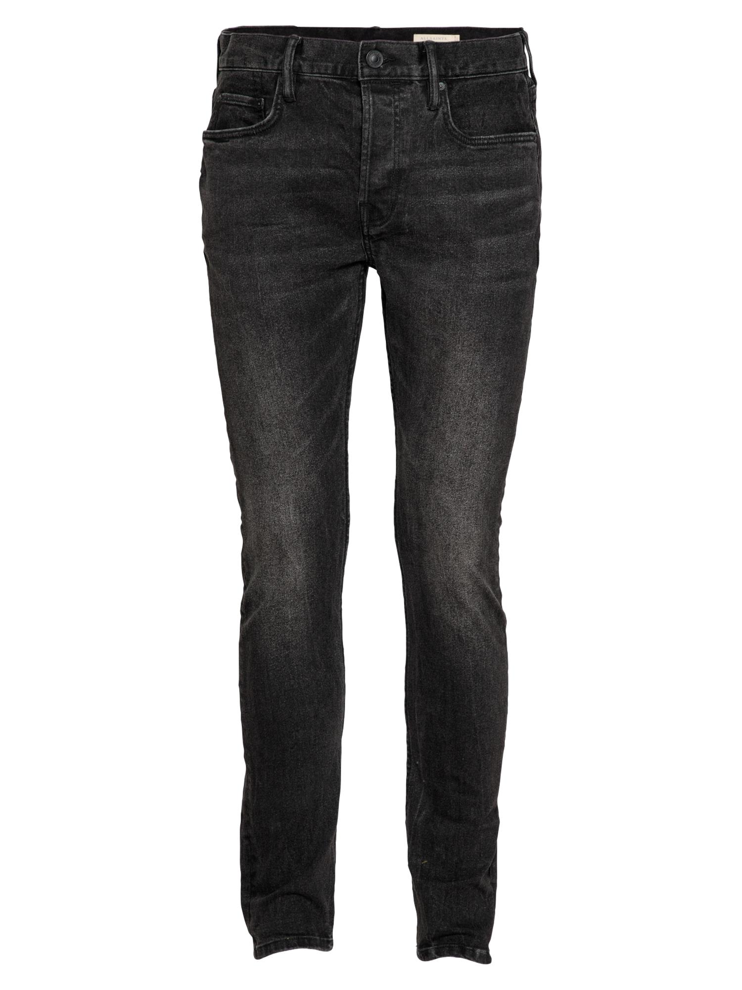 AllSaints Džinsai juodo džinso spalva