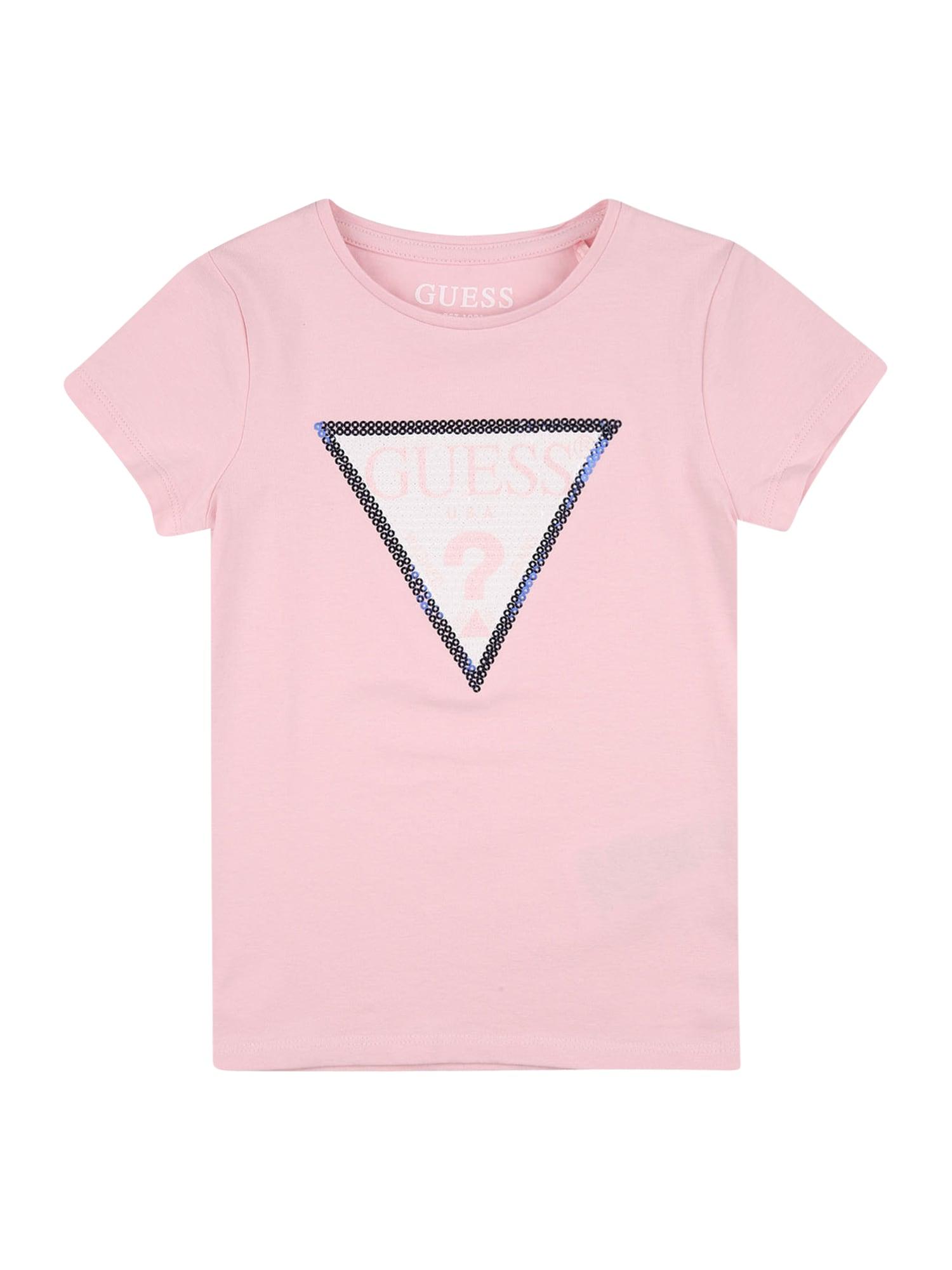 GUESS KIDS Marškinėliai rožinė / sidabrinė / balta