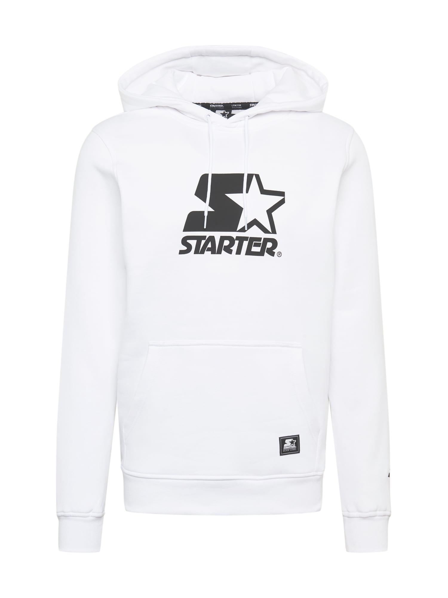Starter Black Label Megztinis be užsegimo balta / tamsiai mėlyna jūros spalva