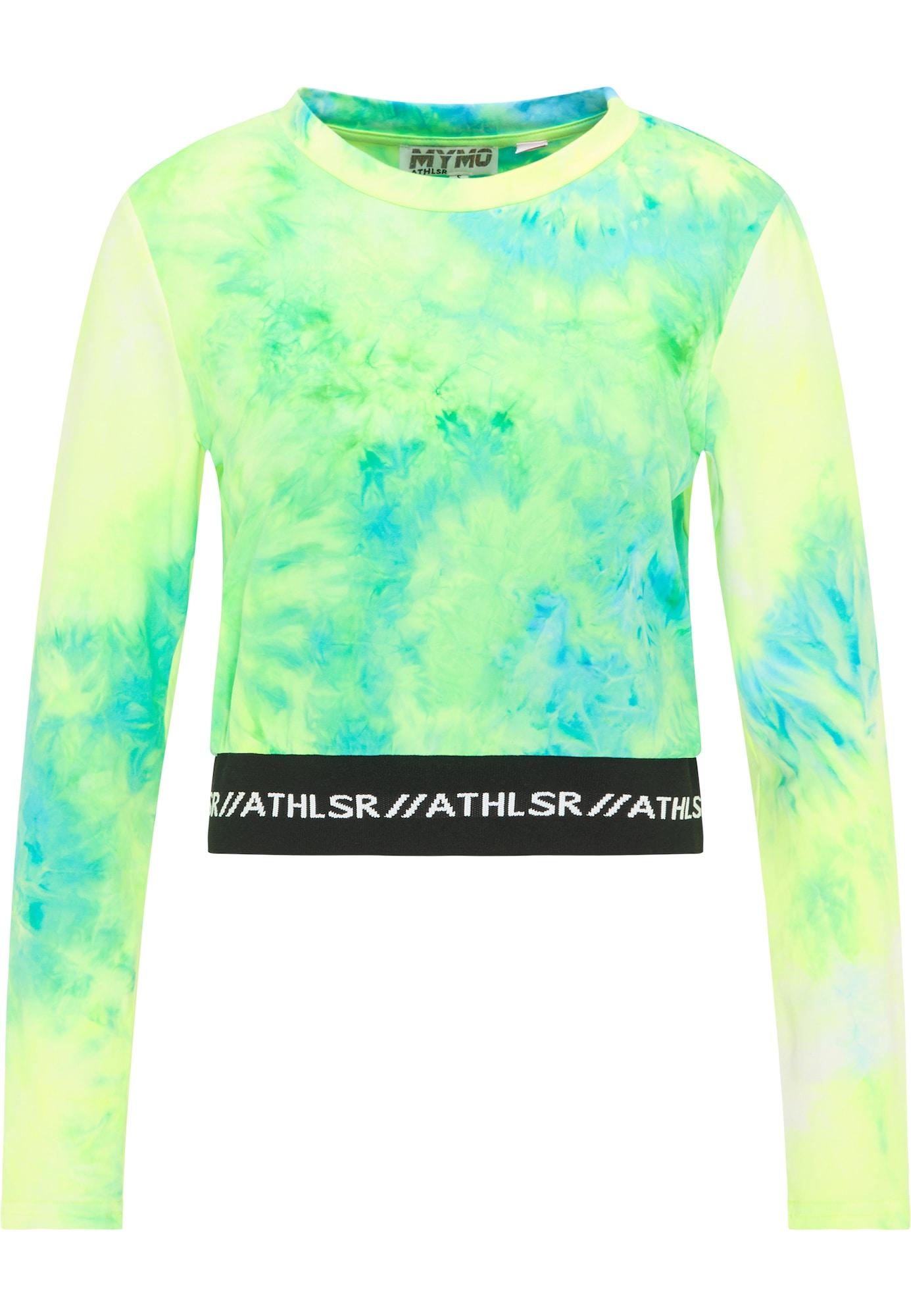 myMo ATHLSR Sportiniai marškinėliai neoninė žalia / neoninė geltona / neoninė mėlyna / juoda / balta