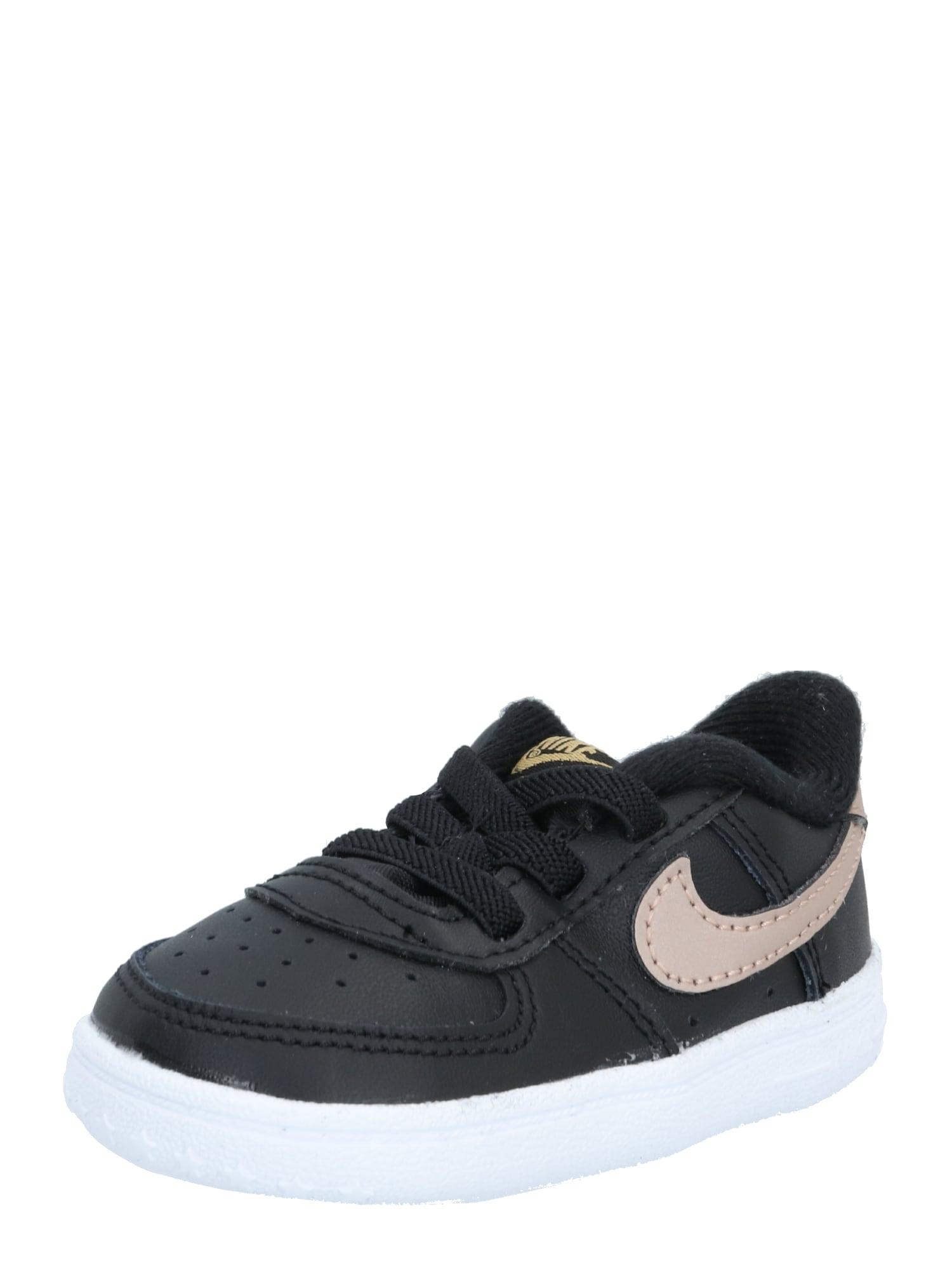 Nike Sportswear Sportbačiai 'Force 1 Crib' auksas / juoda / pudros spalva