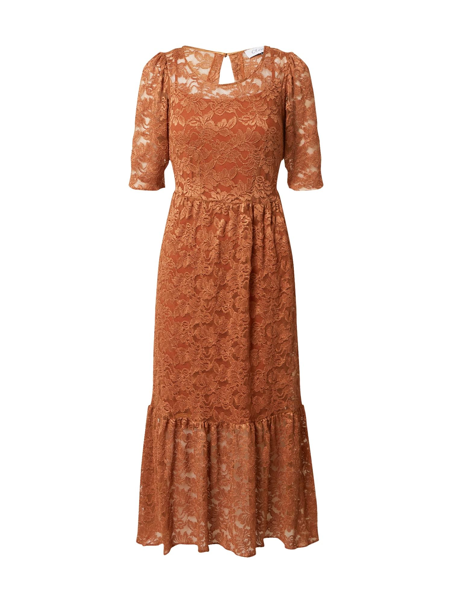 Closet London Suknelė ruda / tamsiai oranžinė