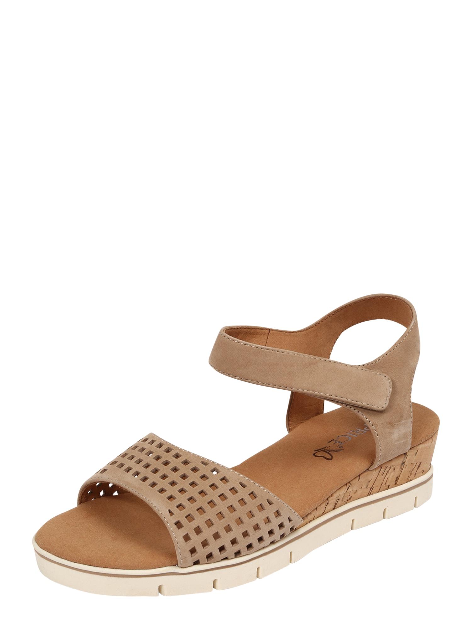 CAPRICE Sandalai smėlio spalva