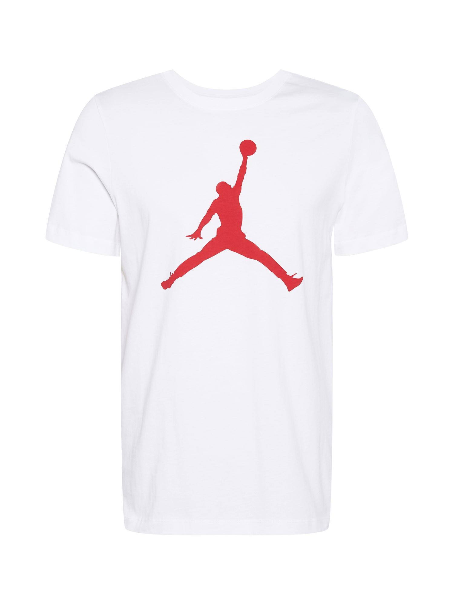 Jordan Marškinėliai balta / raudona