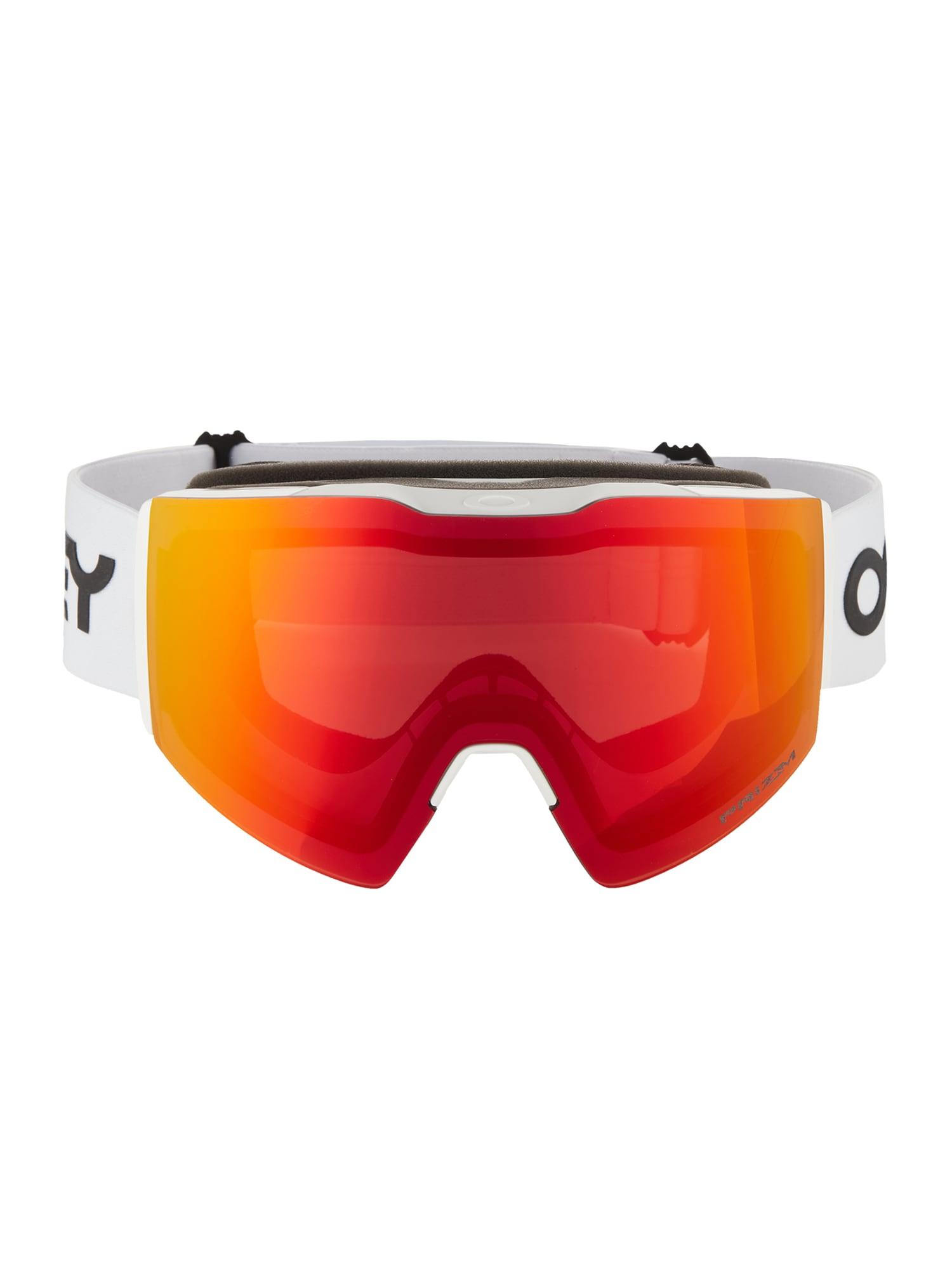 OAKLEY Sportiniai akiniai raudona / balta