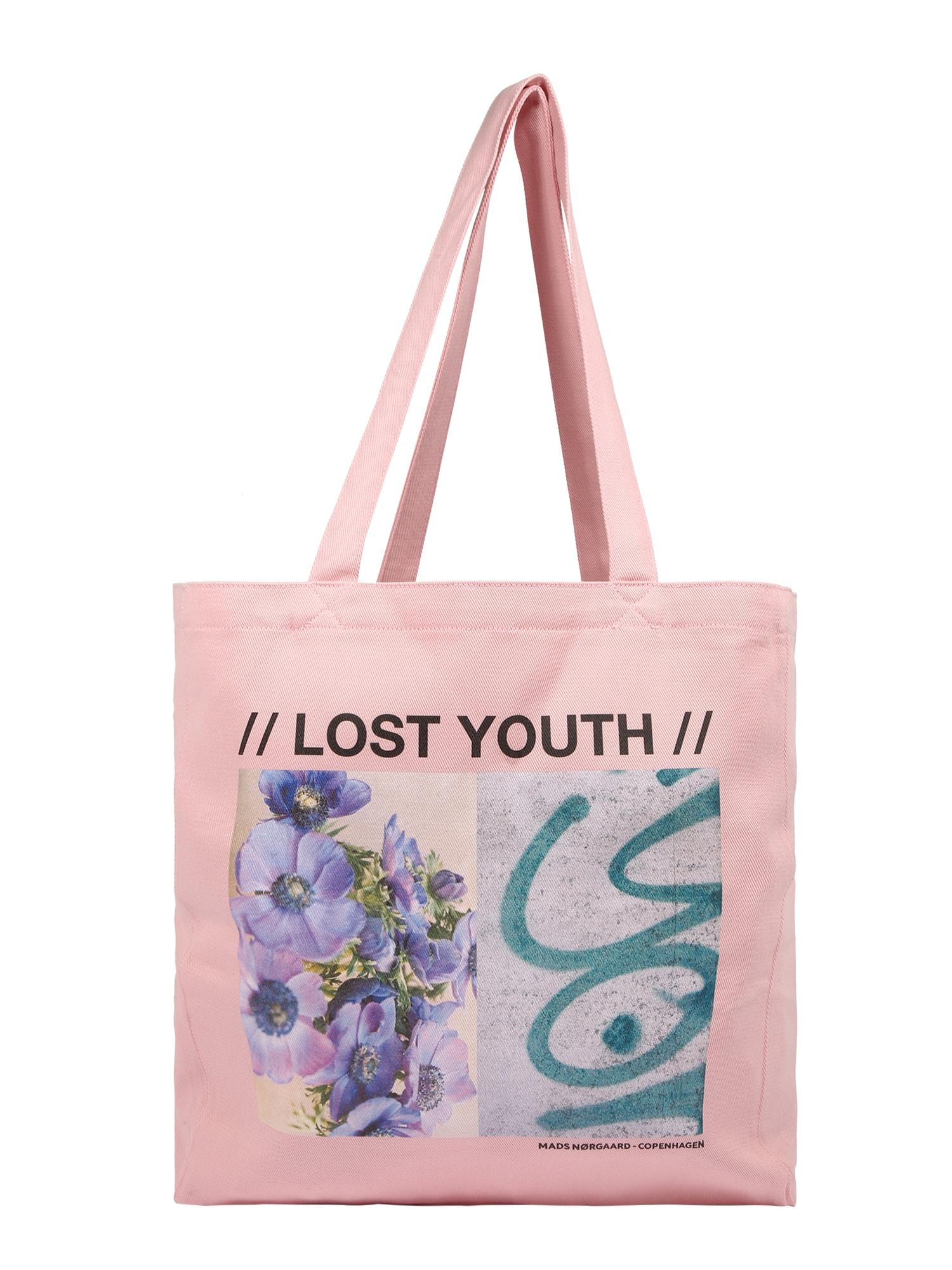 MADS NORGAARD COPENHAGEN Pirkinių krepšys šviesiai rožinė / mišrios spalvos