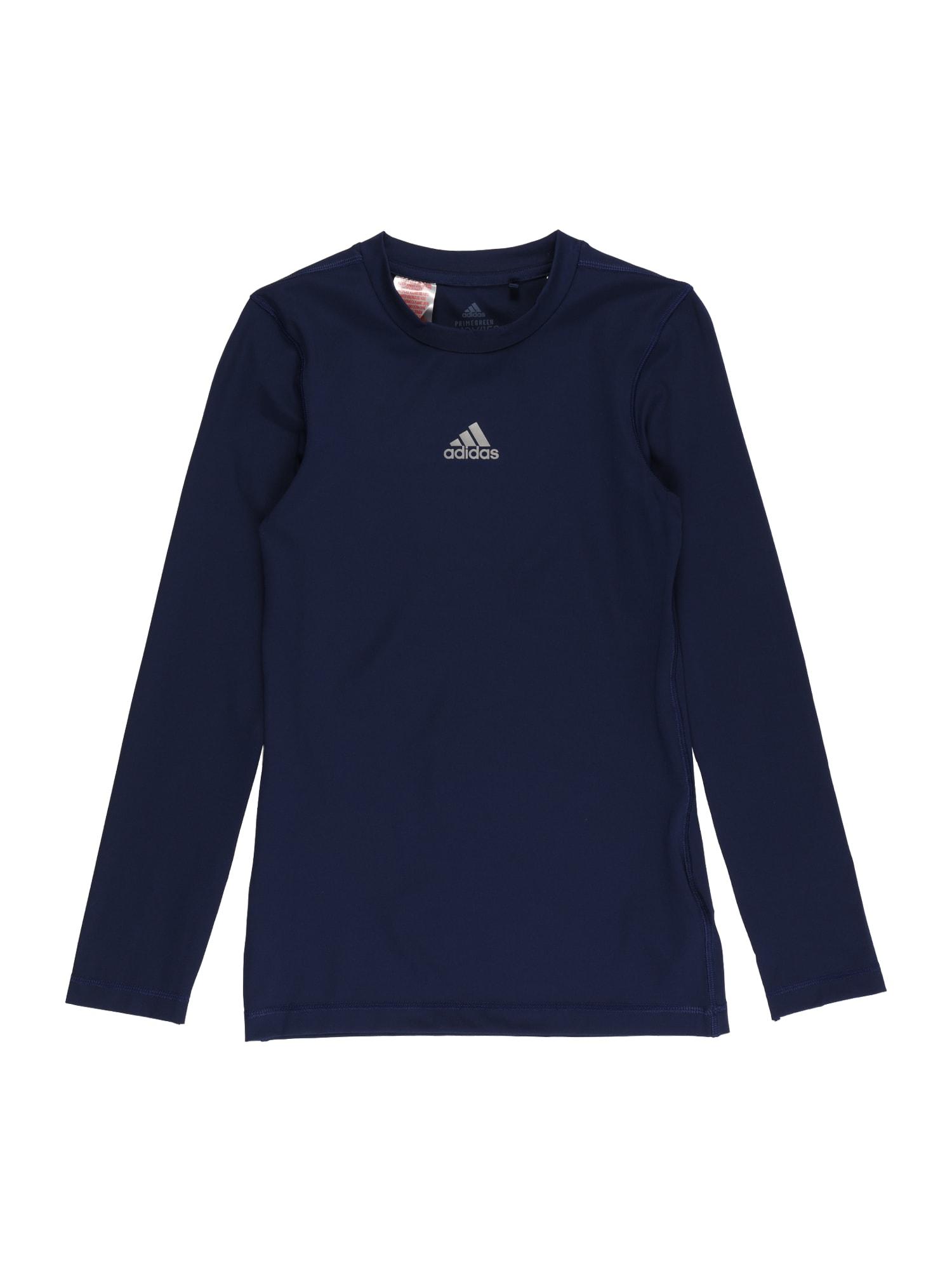 ADIDAS PERFORMANCE Sportiniai marškinėliai tamsiai mėlyna / šviesiai pilka