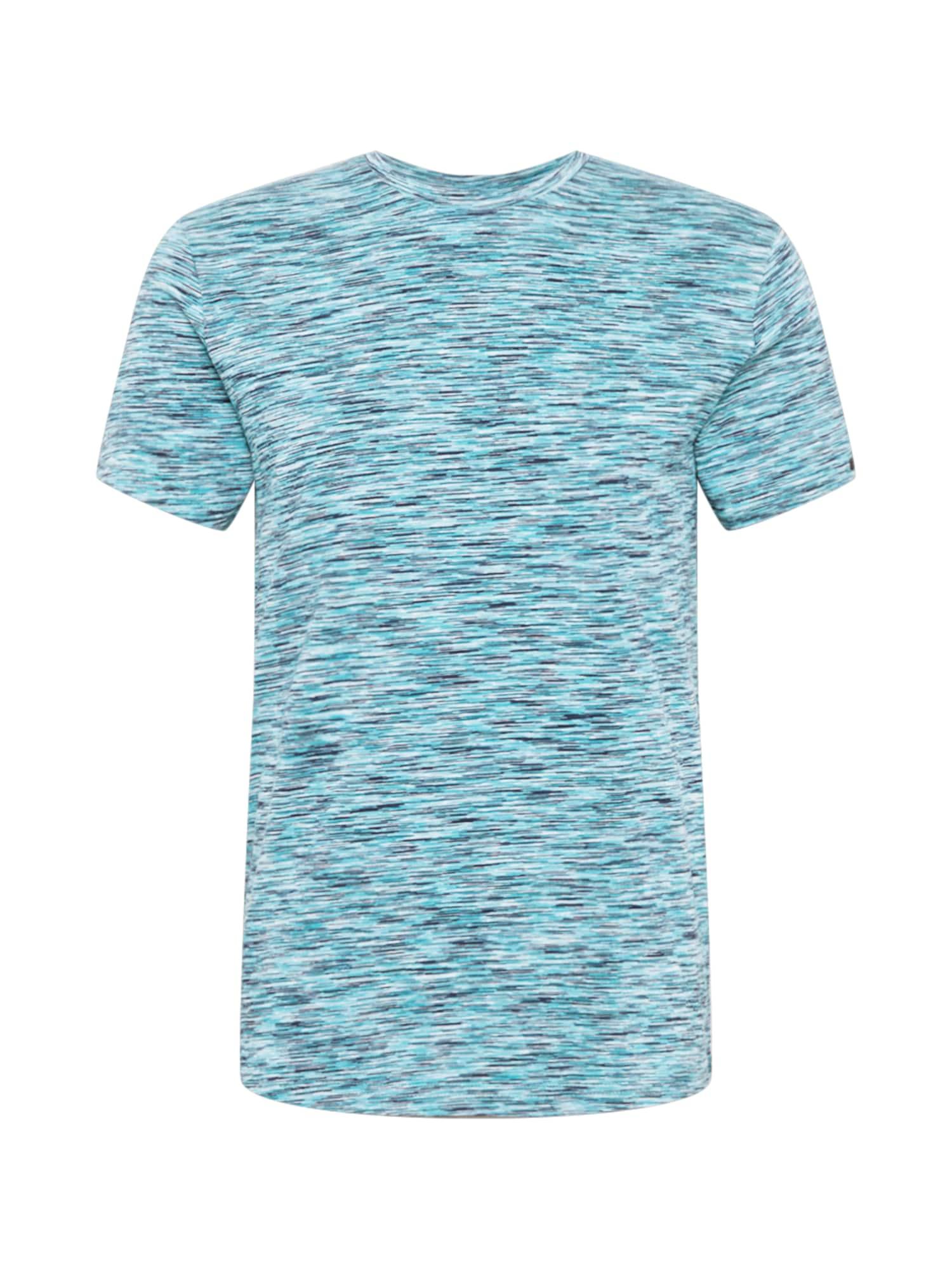 No Excess Marškinėliai turkio spalva / opalo / nakties mėlyna / balta