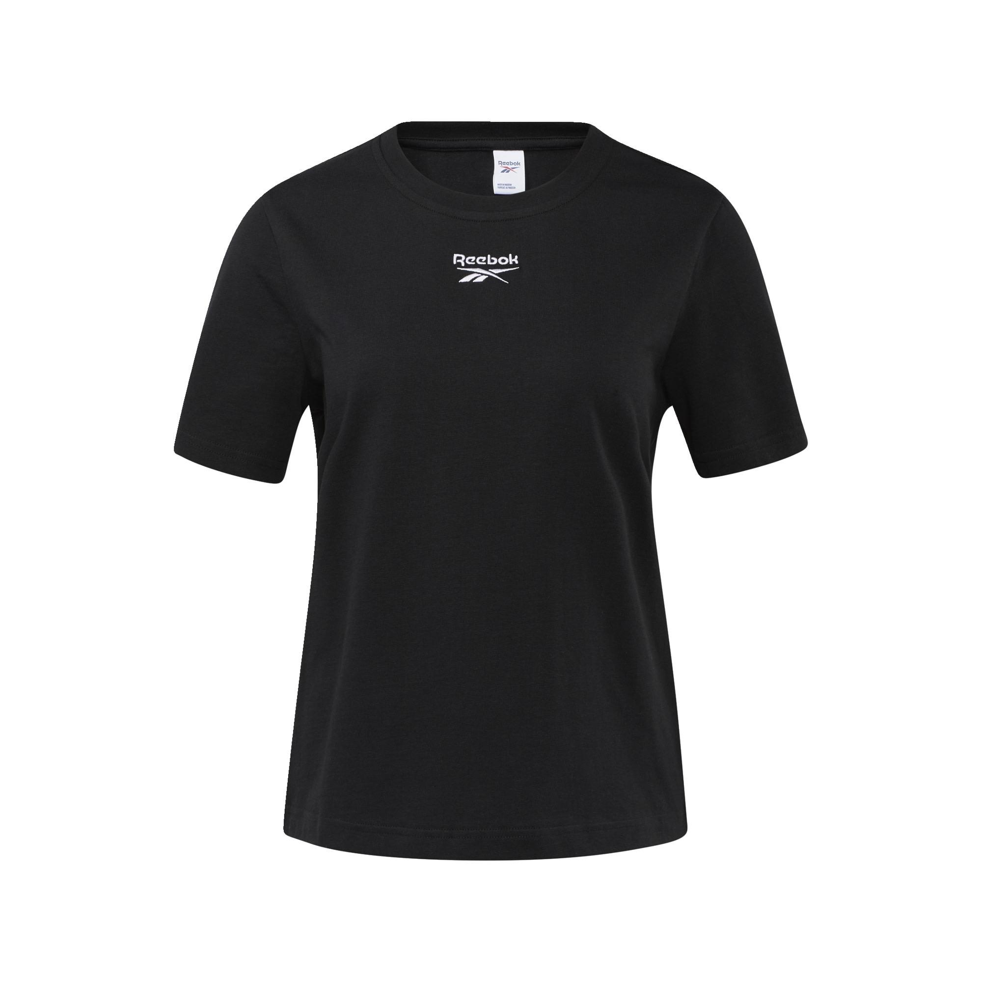 Reebok Classic Marškinėliai juoda / balta