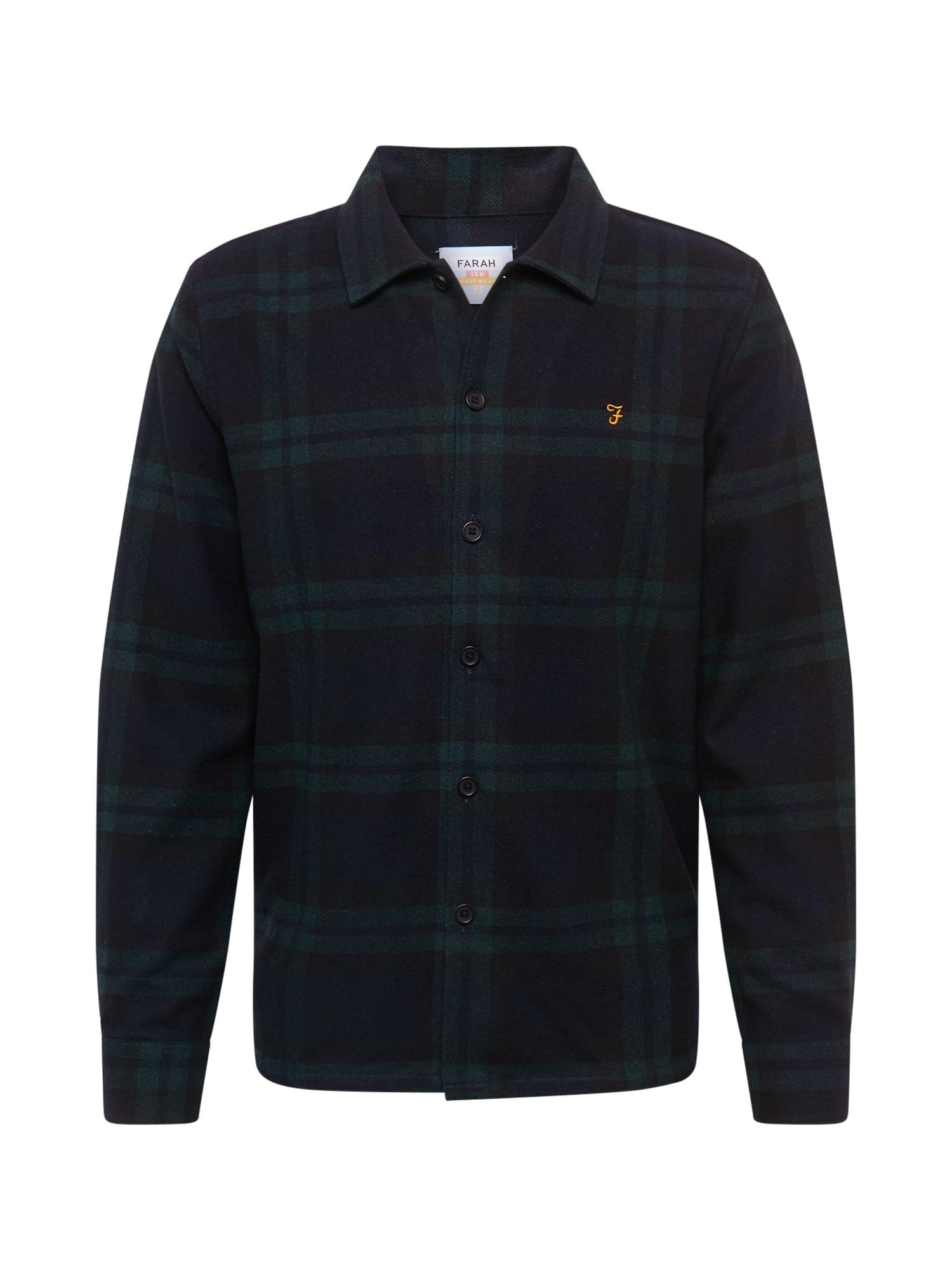FARAH Marškiniai tamsiai žalia / įdegio spalva / alyvuogių spalva