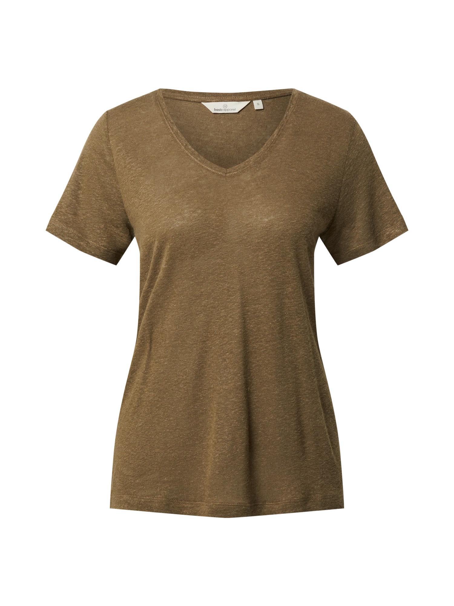 basic apparel Marškinėliai alyvuogių spalva