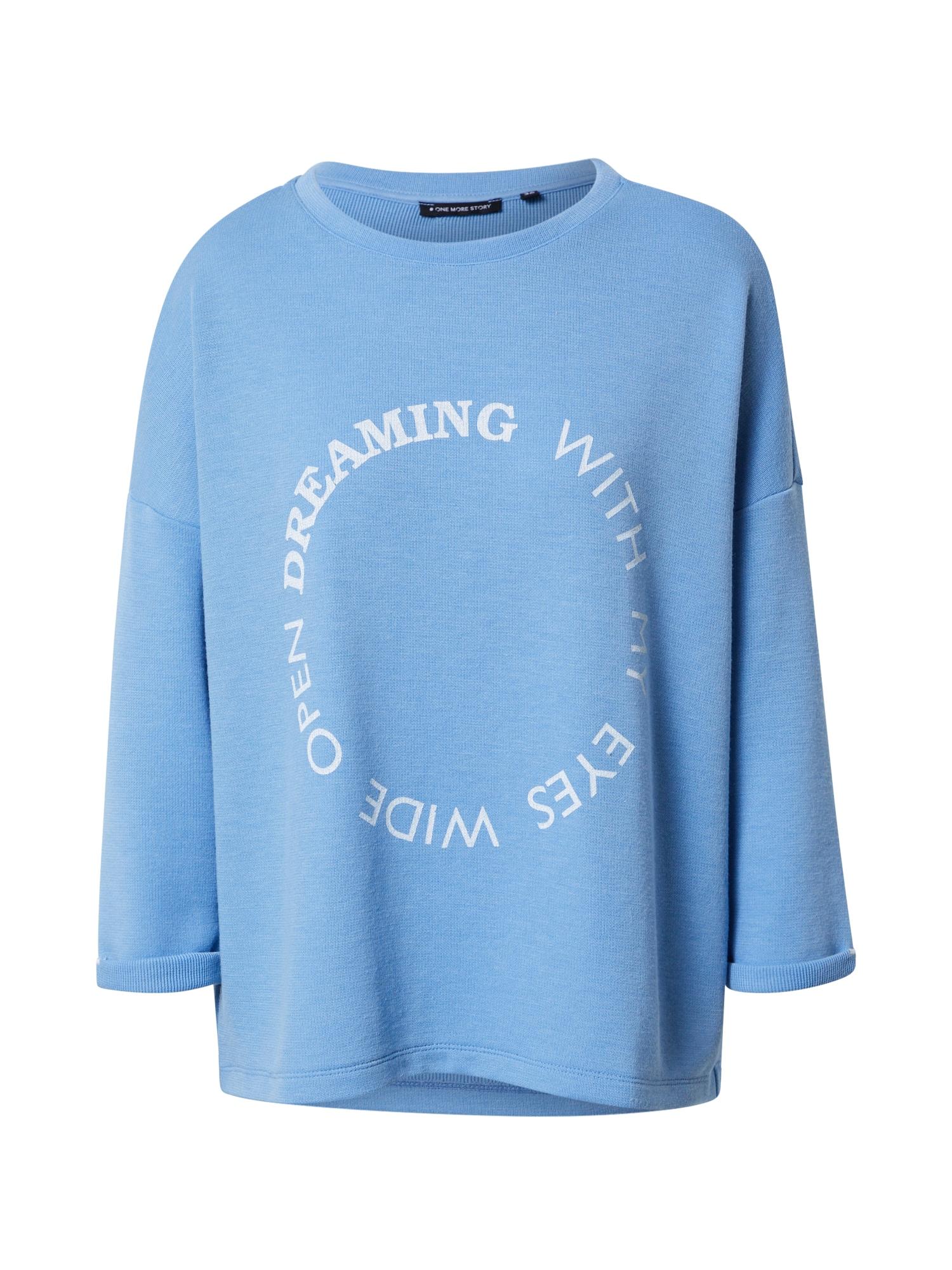 ONE MORE STORY Megztinis be užsegimo mėlyna dūmų spalva / balta