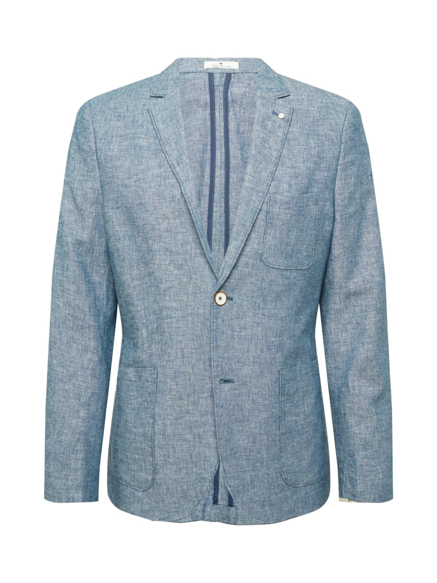 TOM TAILOR Dalykinio stiliaus švarkas margai mėlyna