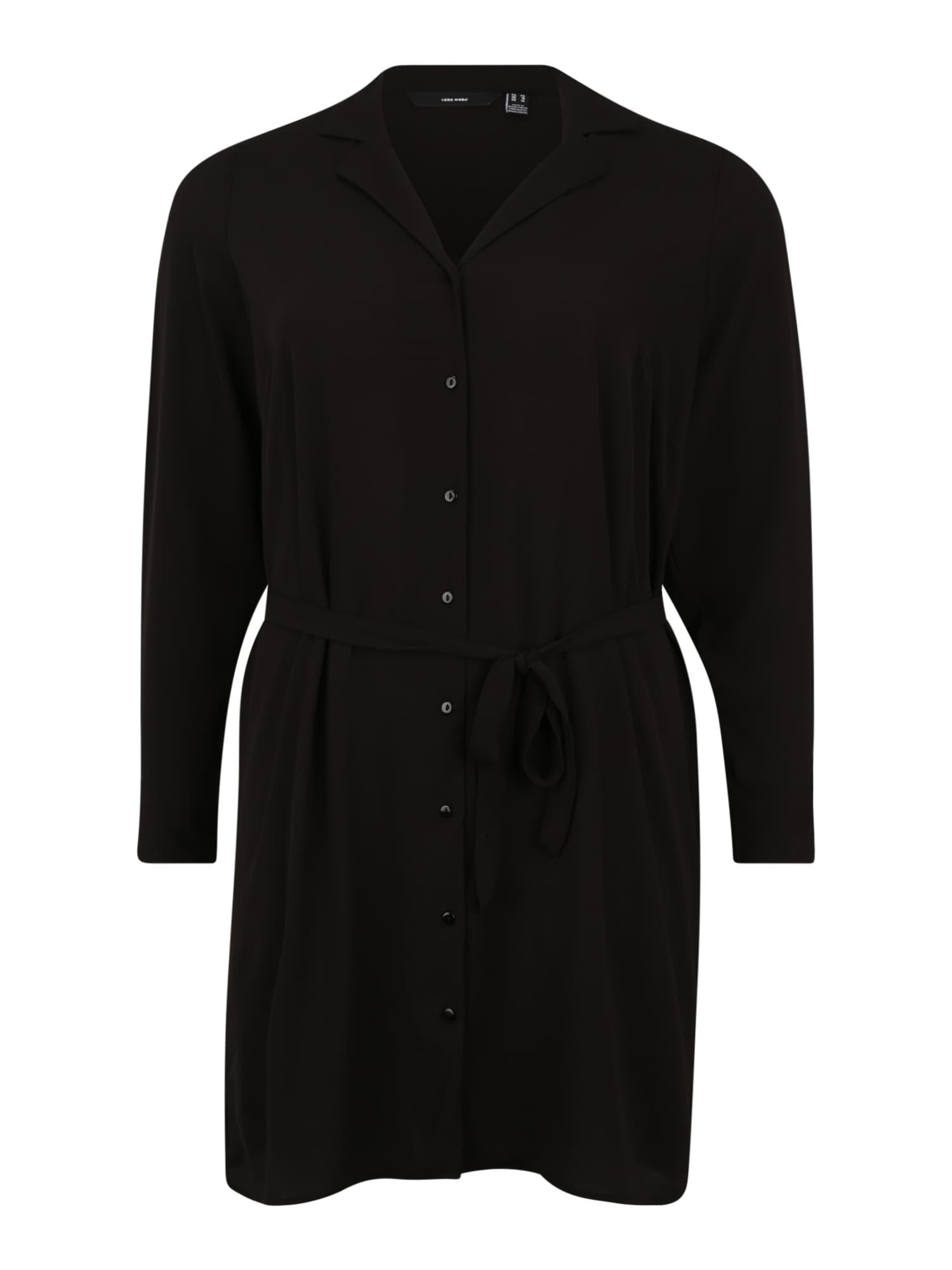 Vero Moda Curve Košilové šaty 'Saga'  černá