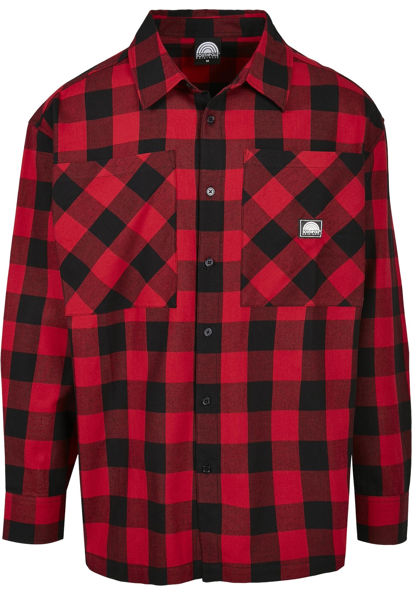 SOUTHPOLE Marškiniai raudona / juoda