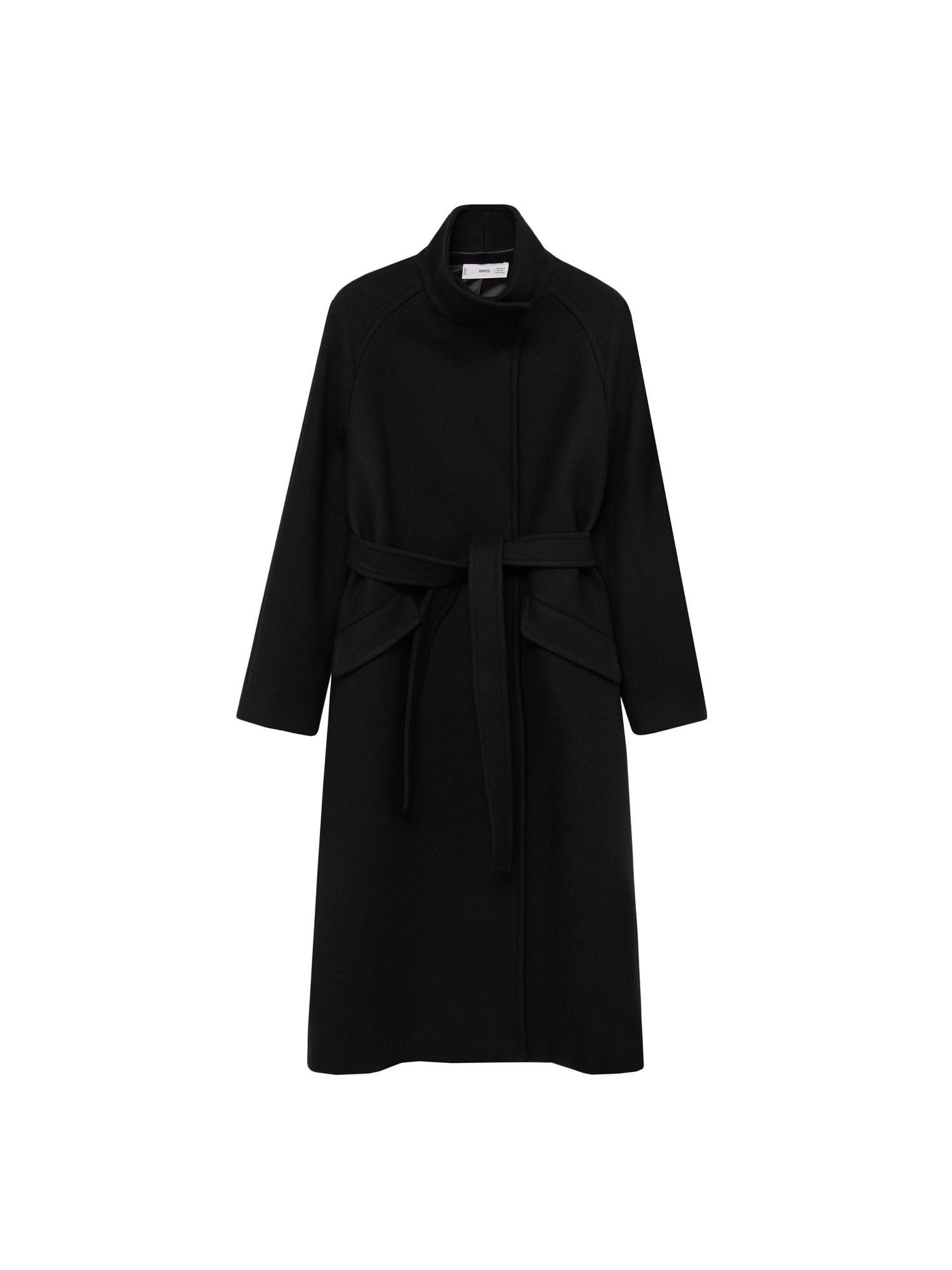 MANGO Přechodný kabát 'Abrigo Venus'  černá