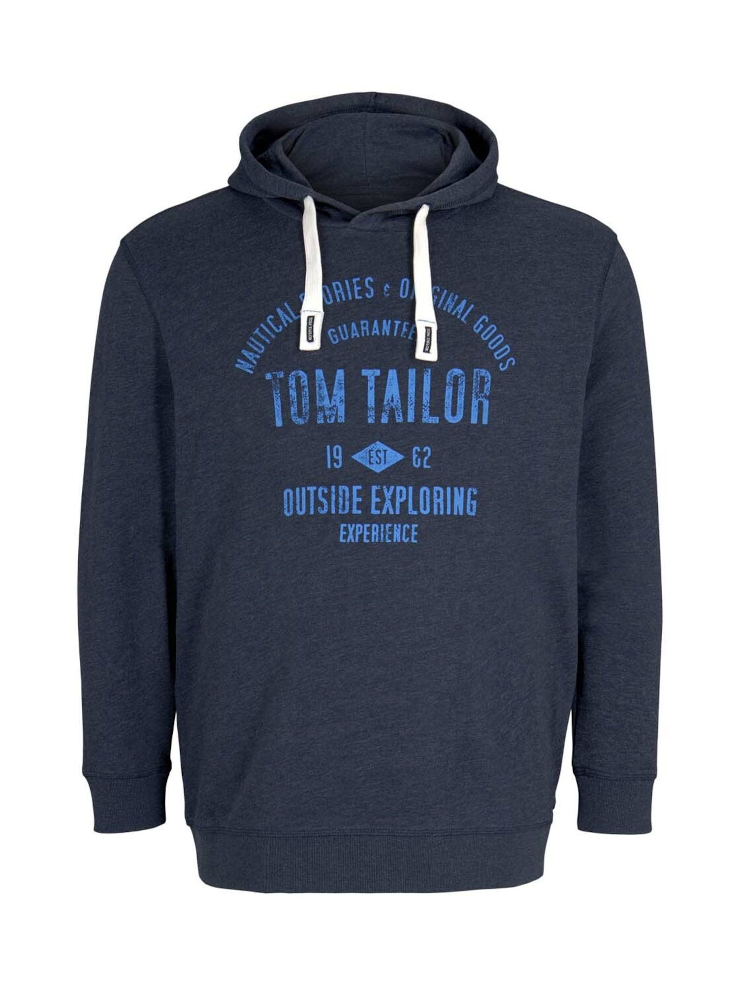 TOM TAILOR Men + Megztinis be užsegimo tamsiai mėlyna