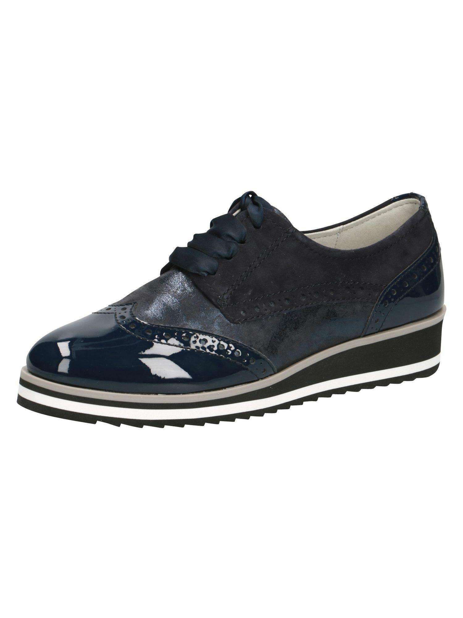 CAPRICE Batai su raišteliais tamsiai mėlyna jūros spalva / balta