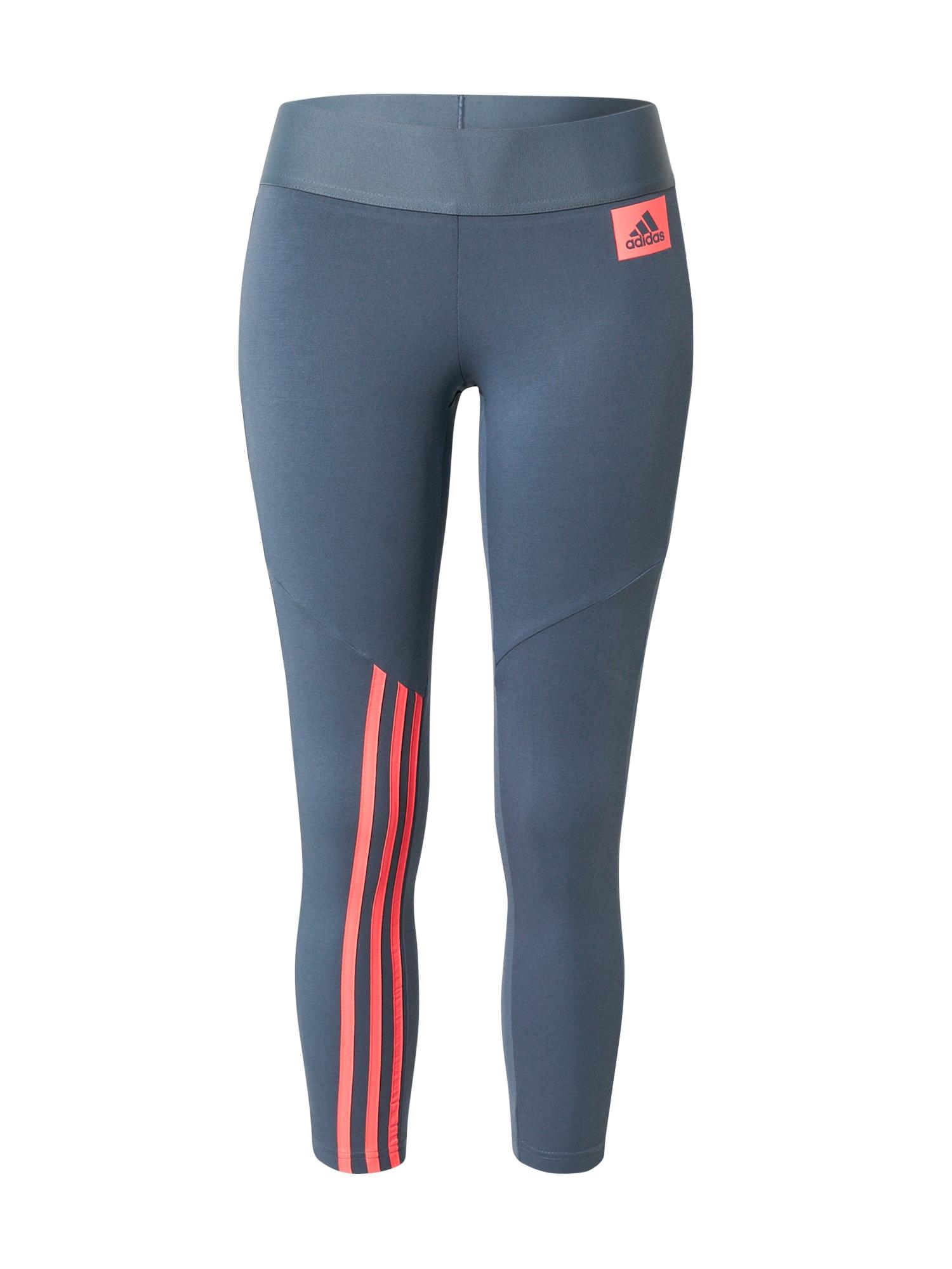 ADIDAS PERFORMANCE Sportovní kalhoty  chladná modrá / korálová