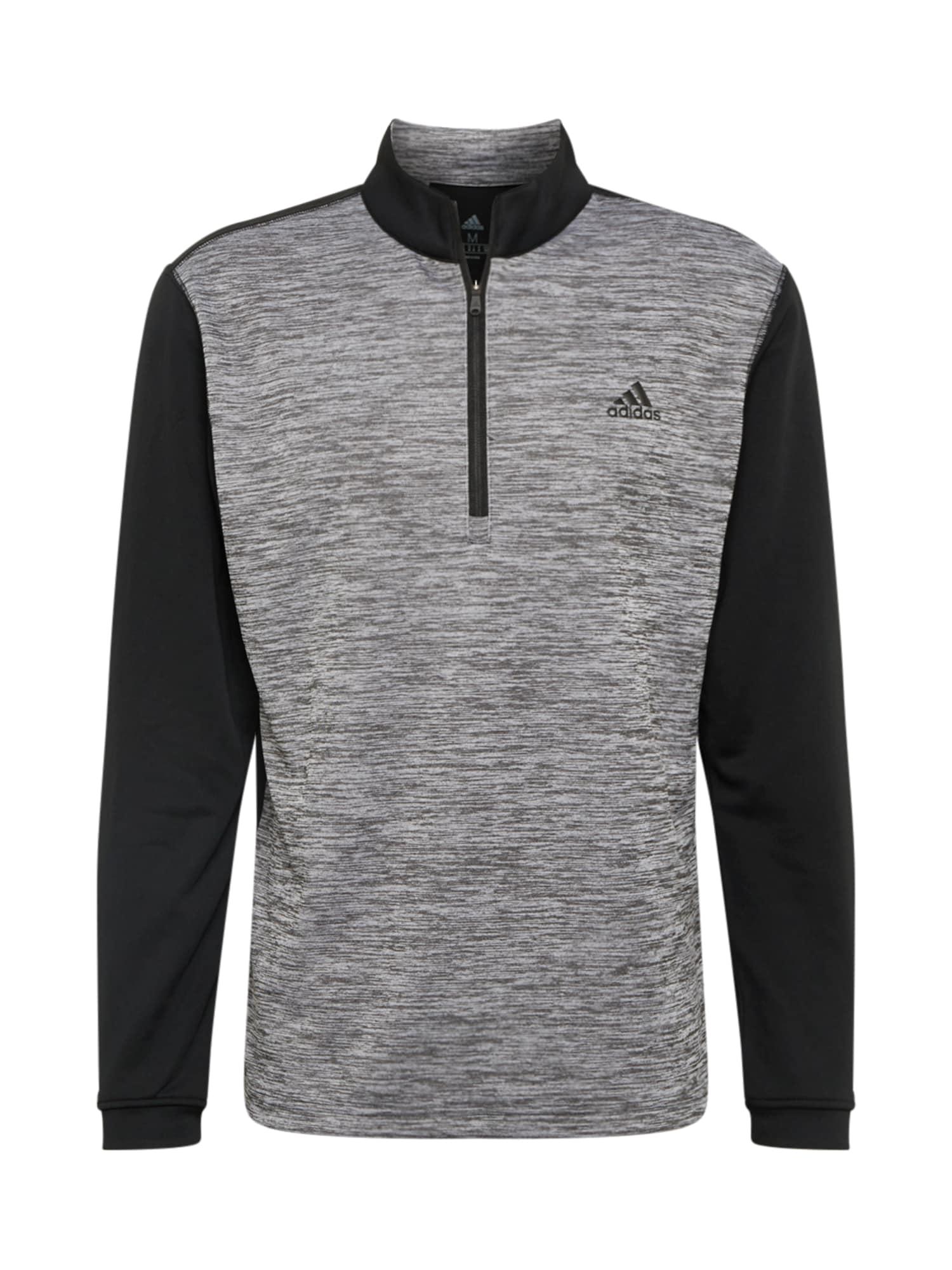 adidas Golf Sportinio tipo megztinis juoda / pilka