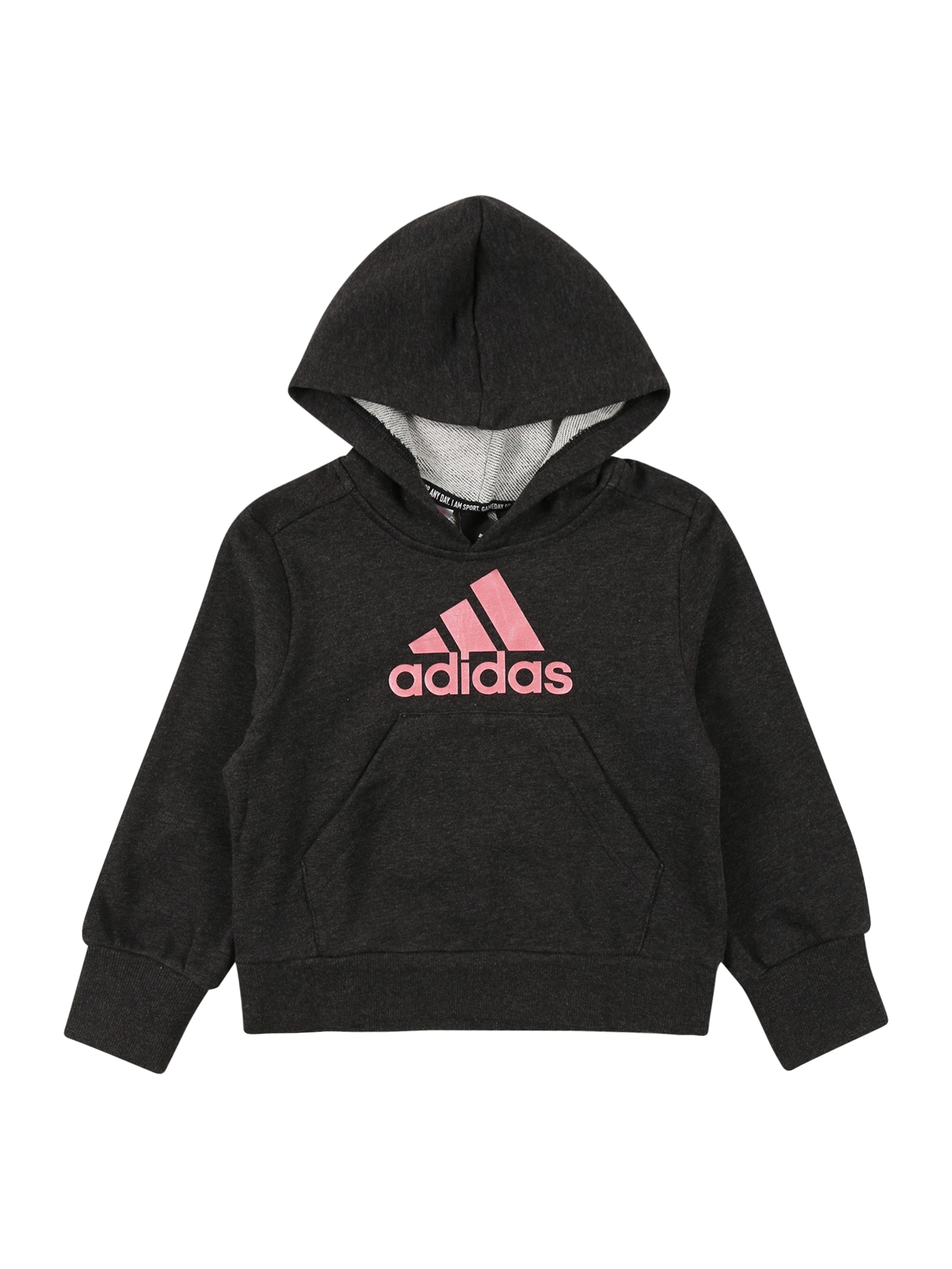 ADIDAS PERFORMANCE Sportinio tipo megztinis margai juoda / rožinė